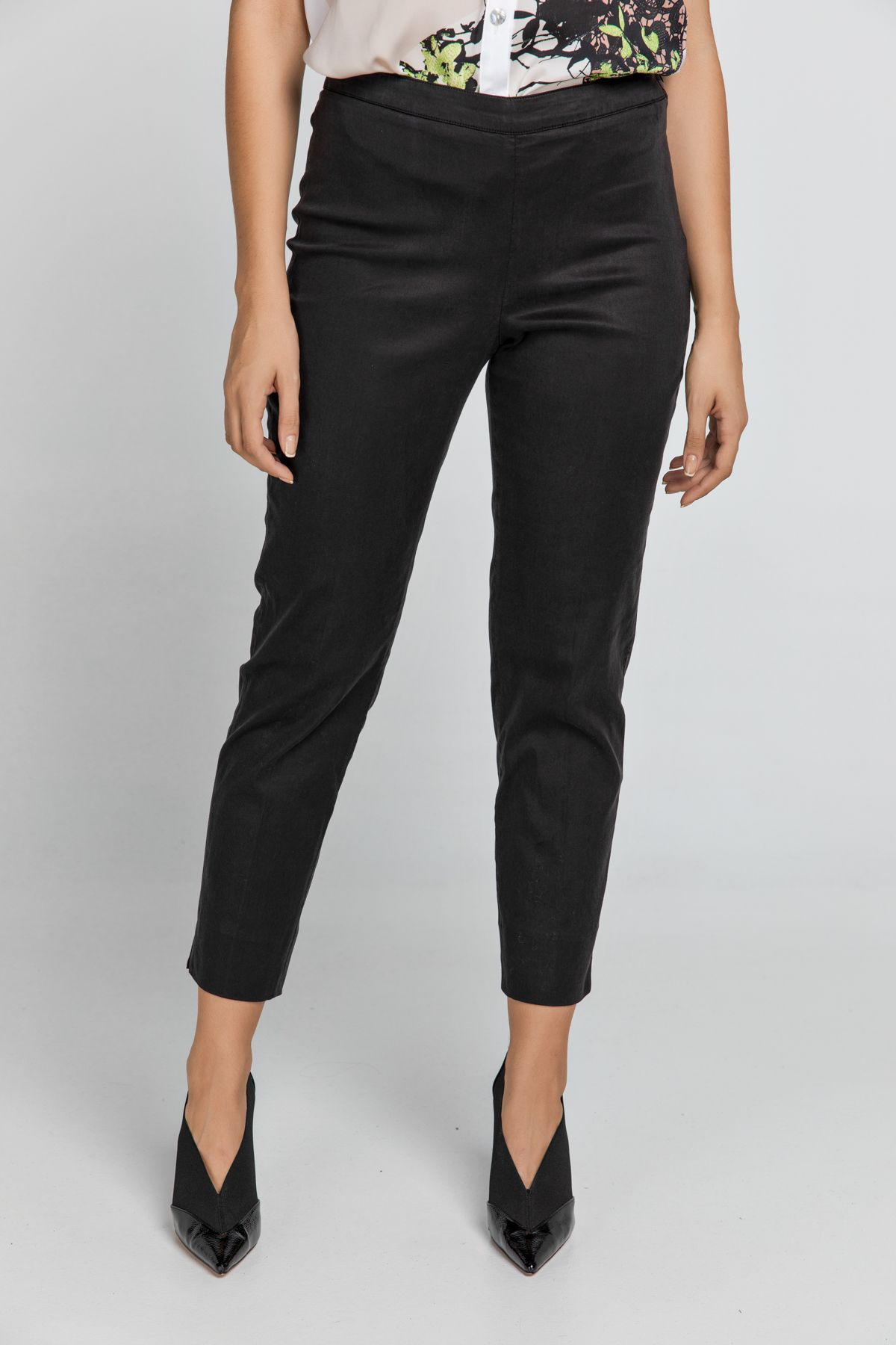 Slim Fit Black Pants Conquista Fashion