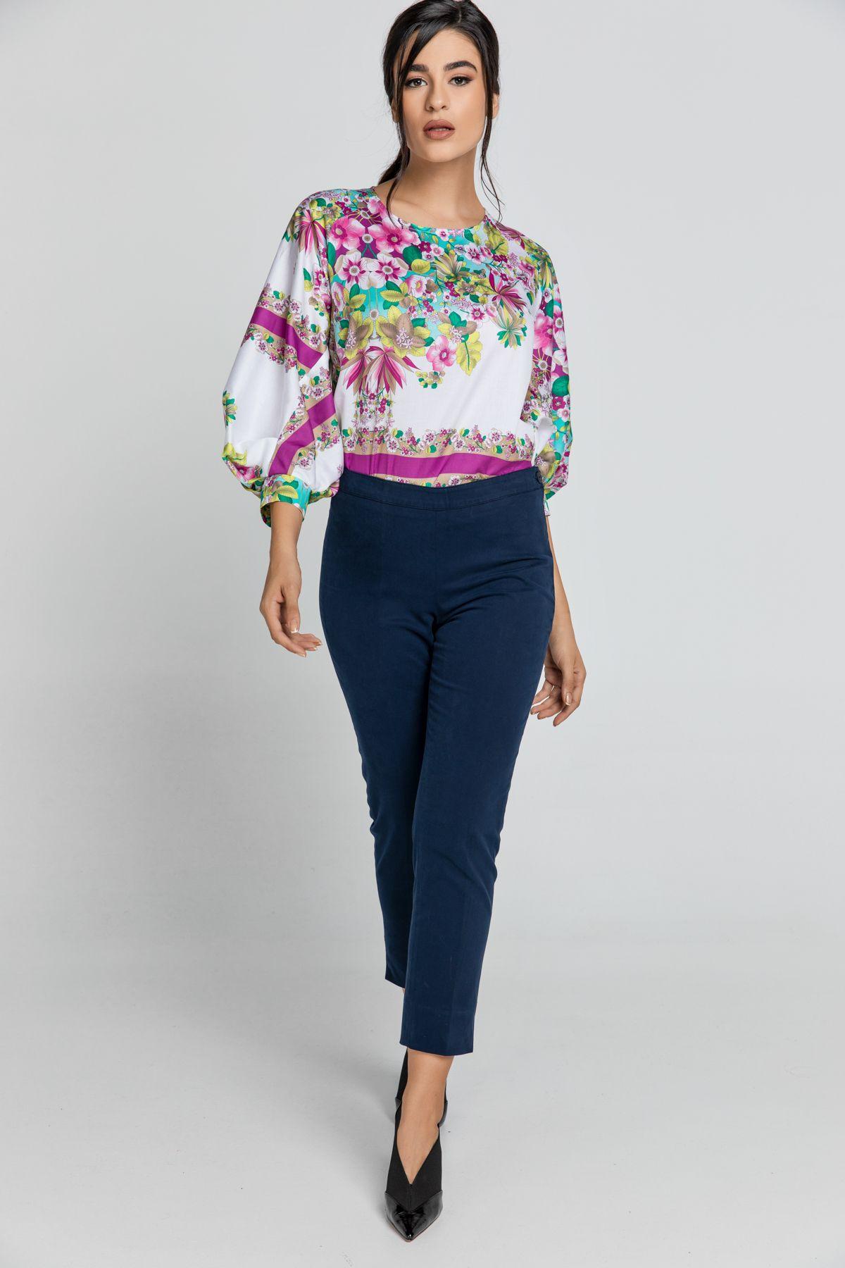 Slim Fit Blue Pants Conquista Fashion