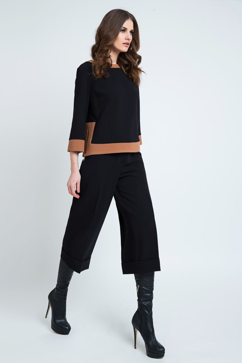 Black Culottes with Turn Up