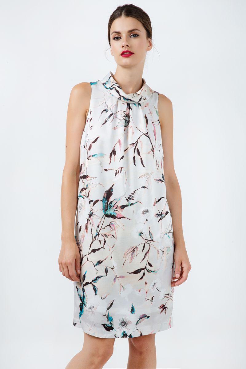 Straight Sleeveless Satin Dress