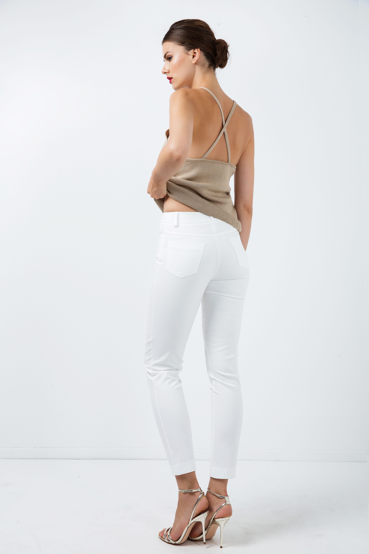 Long Fitted Gabardine Pants
