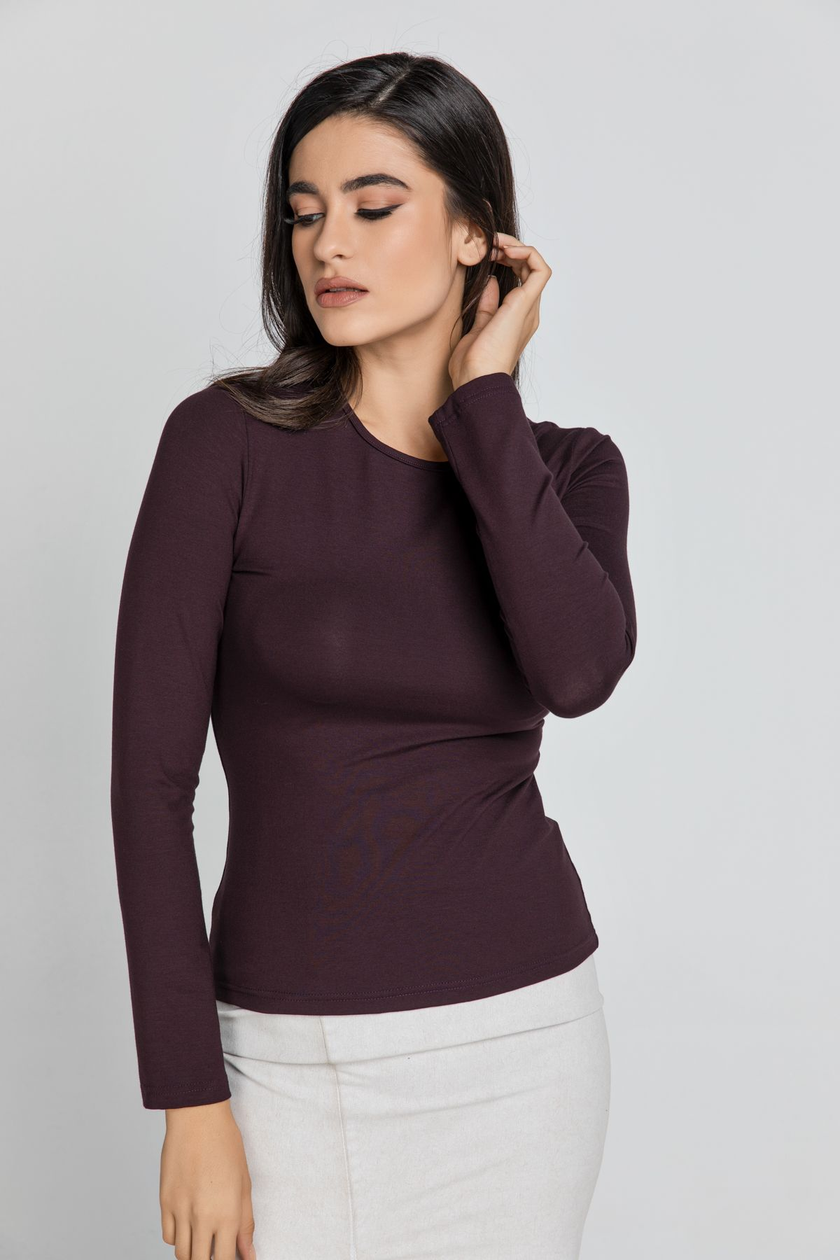 Maroon Jersey Top By Conquista Fashion