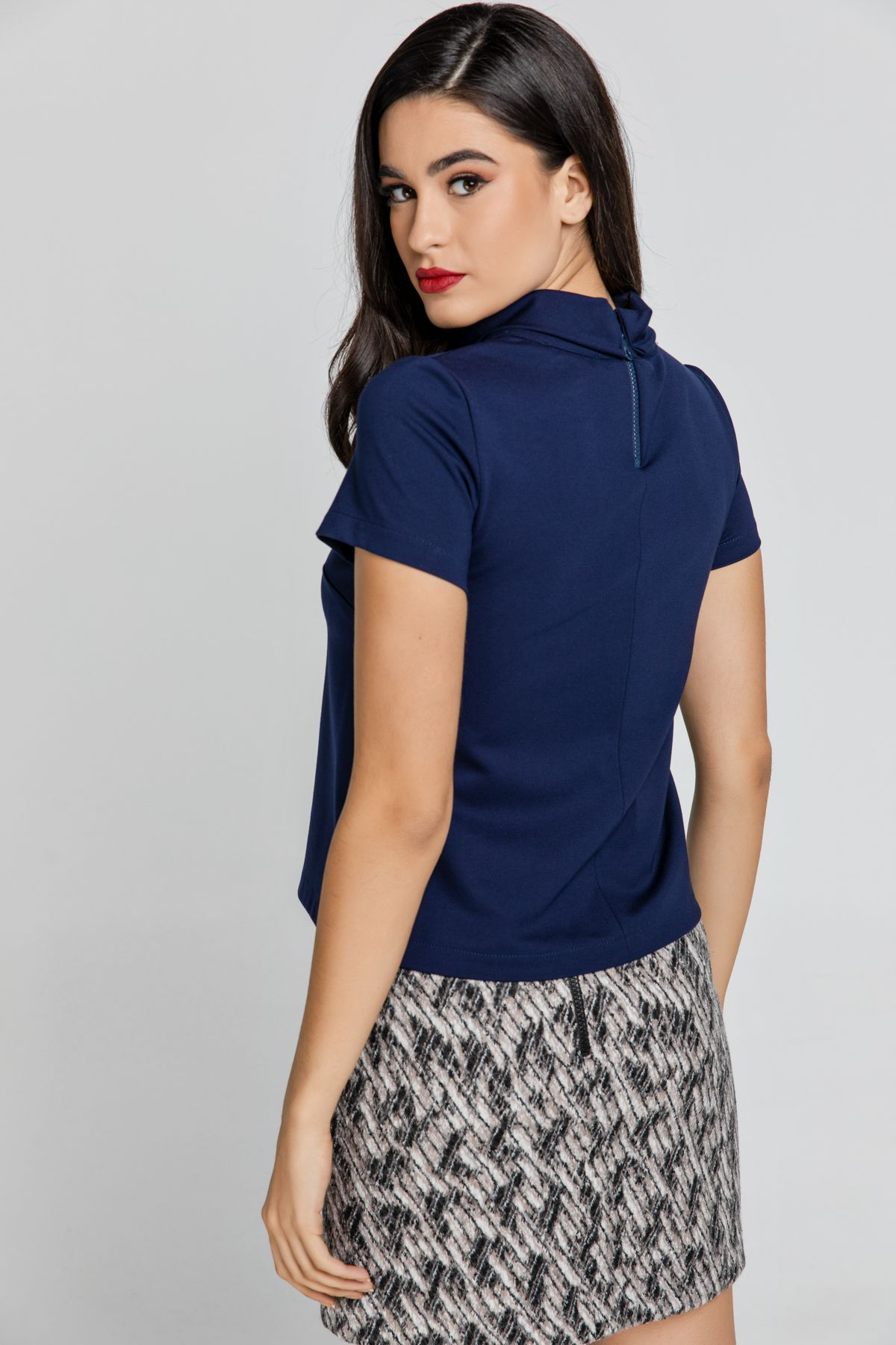 Short Sleeve Blue Top