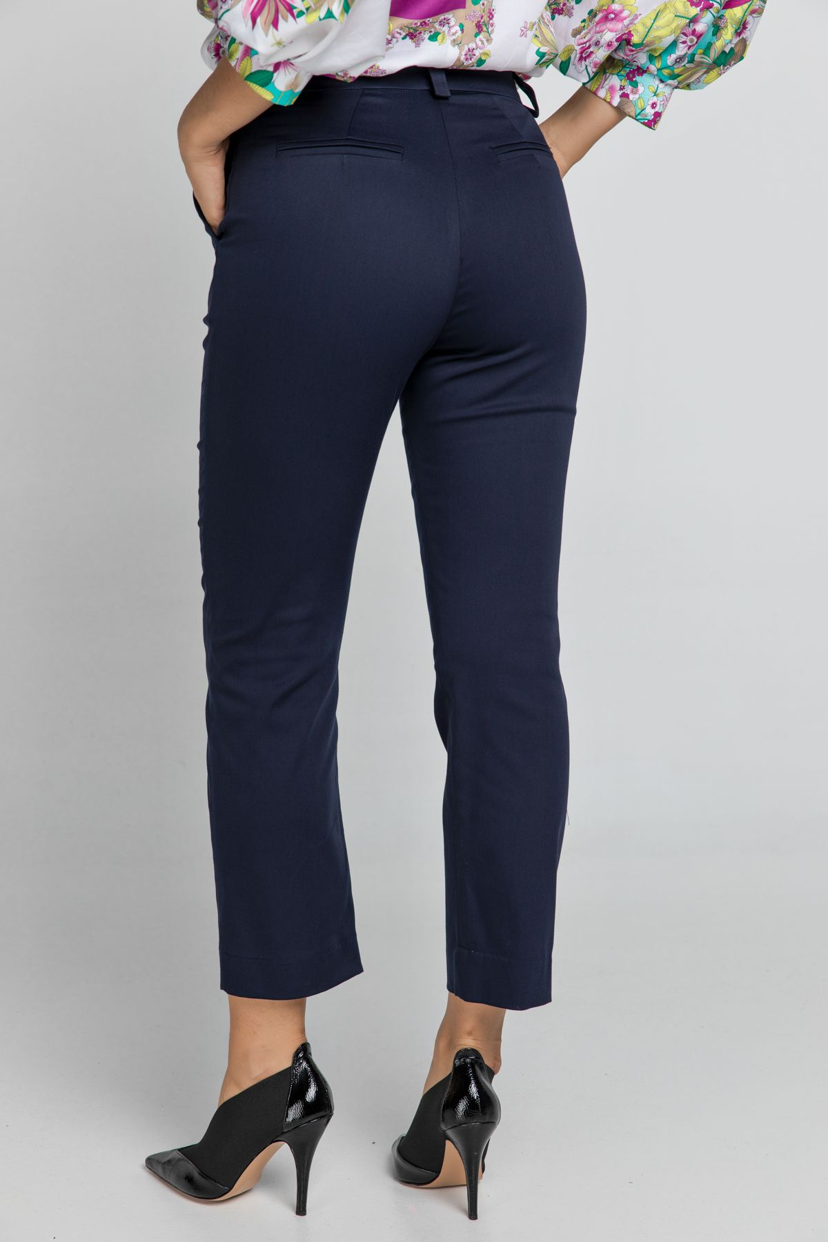 Dark Blue Gabardine Pants