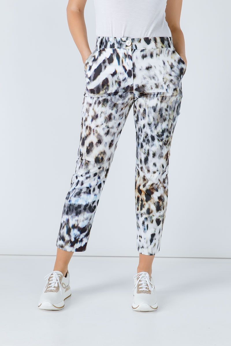 Animal Print Fitted Pants