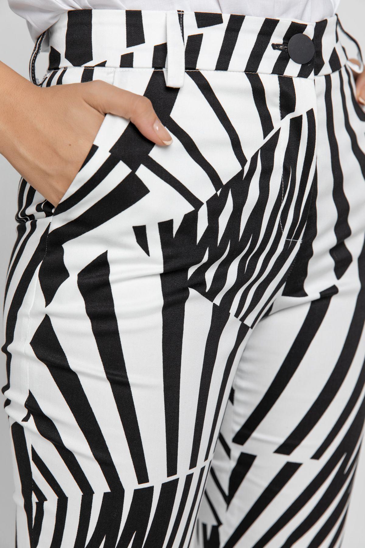 Black & White Gabardine Pants