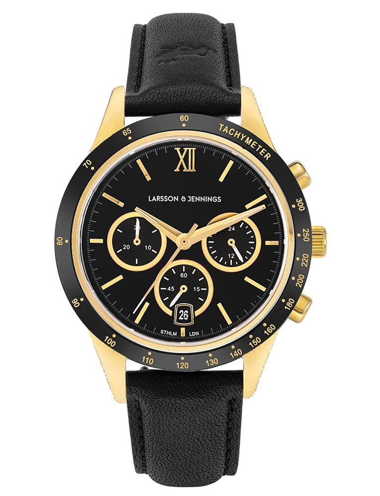 Rally Leather 39mm Gold Black