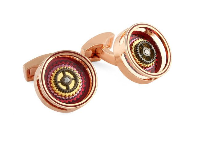 Gear Bullseye rose gold-plated cufflinks