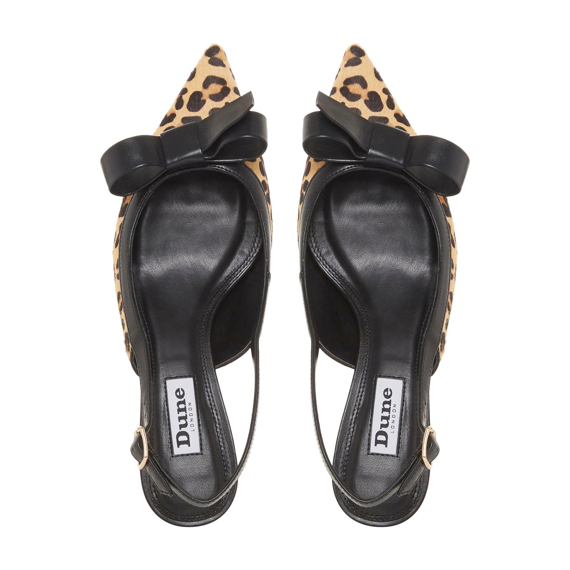 Dune Ladies CLEMMIEE Bow Trim Sling Back Kitten Heel Court Shoes
