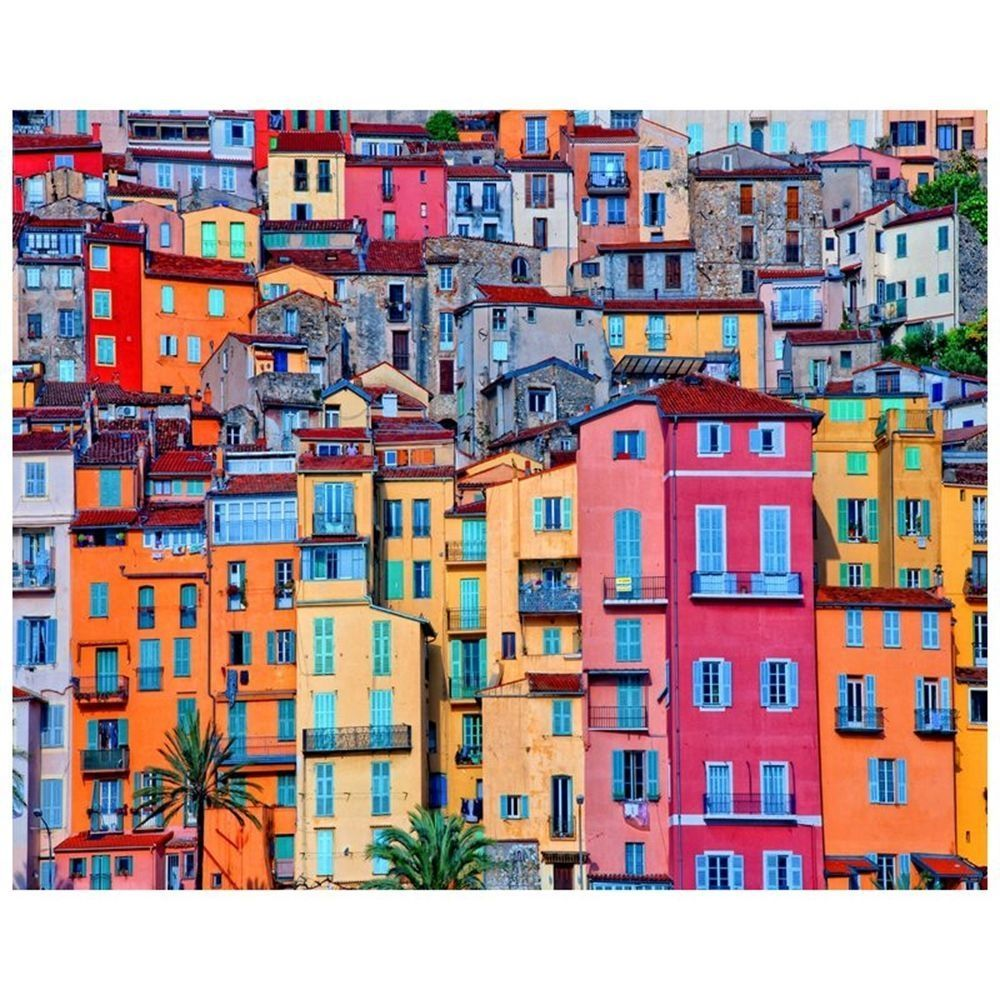 Canvas Print - Houses In Colour Cm. 80x100