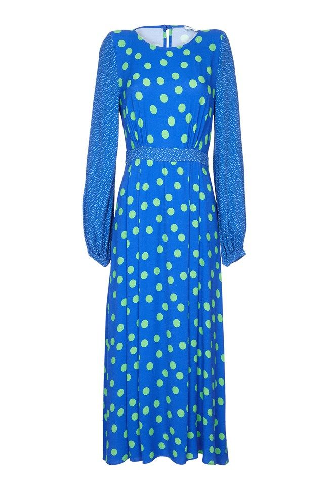 Emily Mix and Match Spot Print Crepe Dress