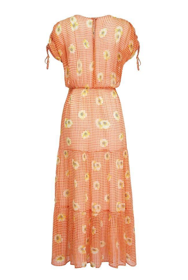 Sadie Gingham Daisy Print Georgette Dress