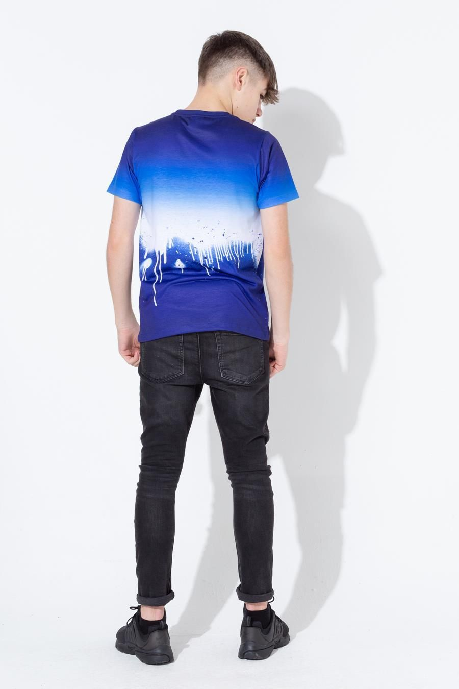 Hype Blue Drip Fade Kids T-Shirt