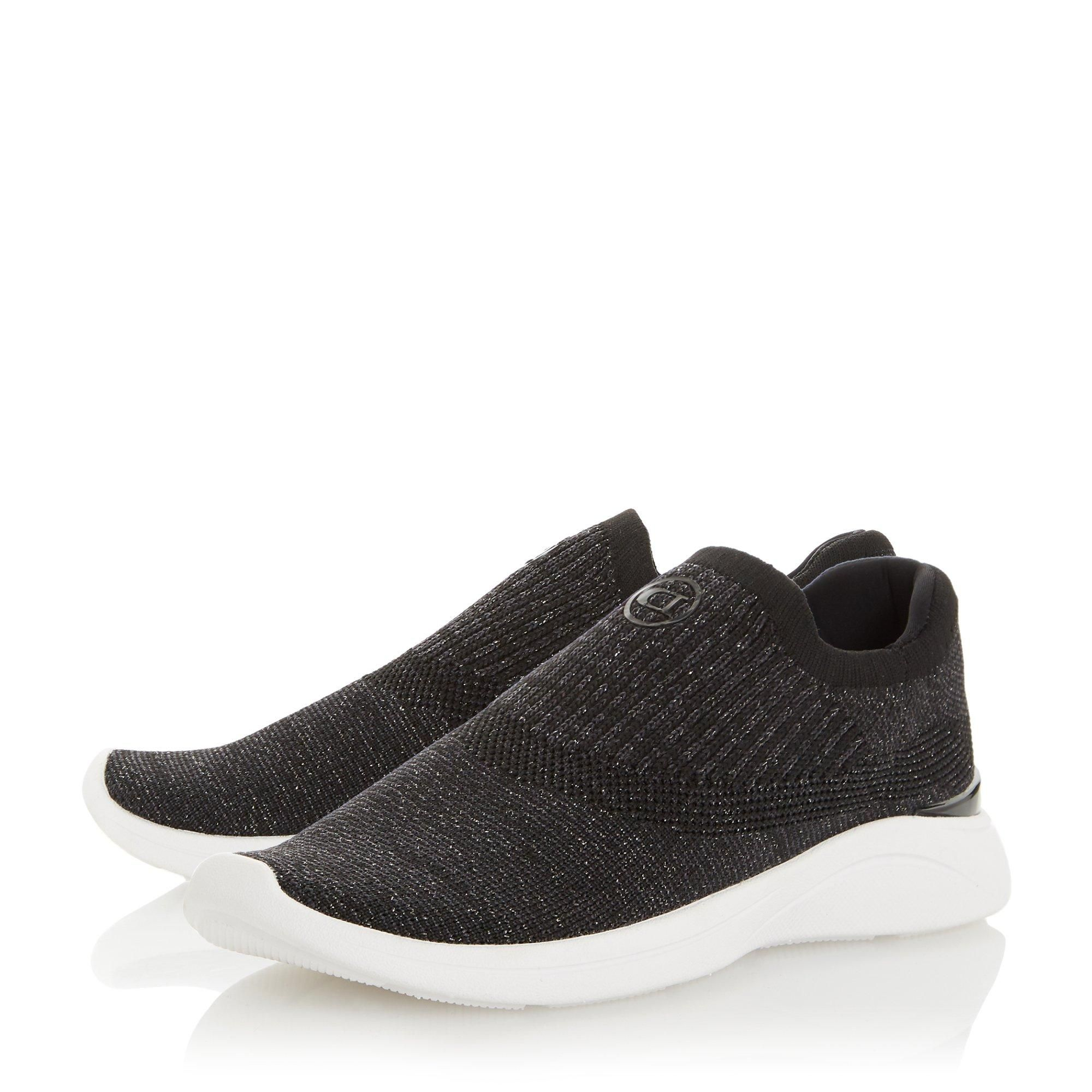 Dune Ladies EASY SLIP ON Knitted Trainers