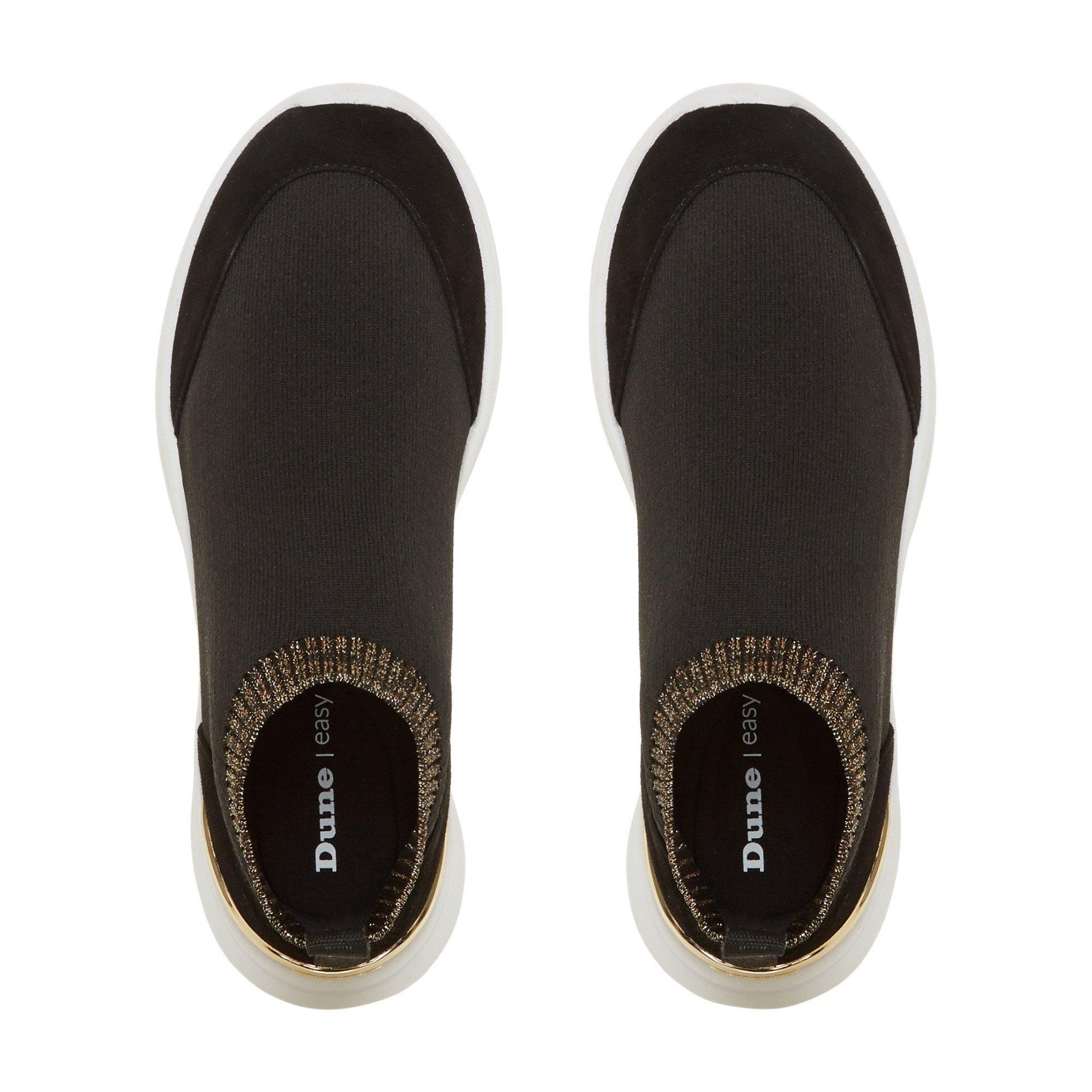 Dune Ladies EASY SOCK BOOT Glitter Trim Sock Trainers