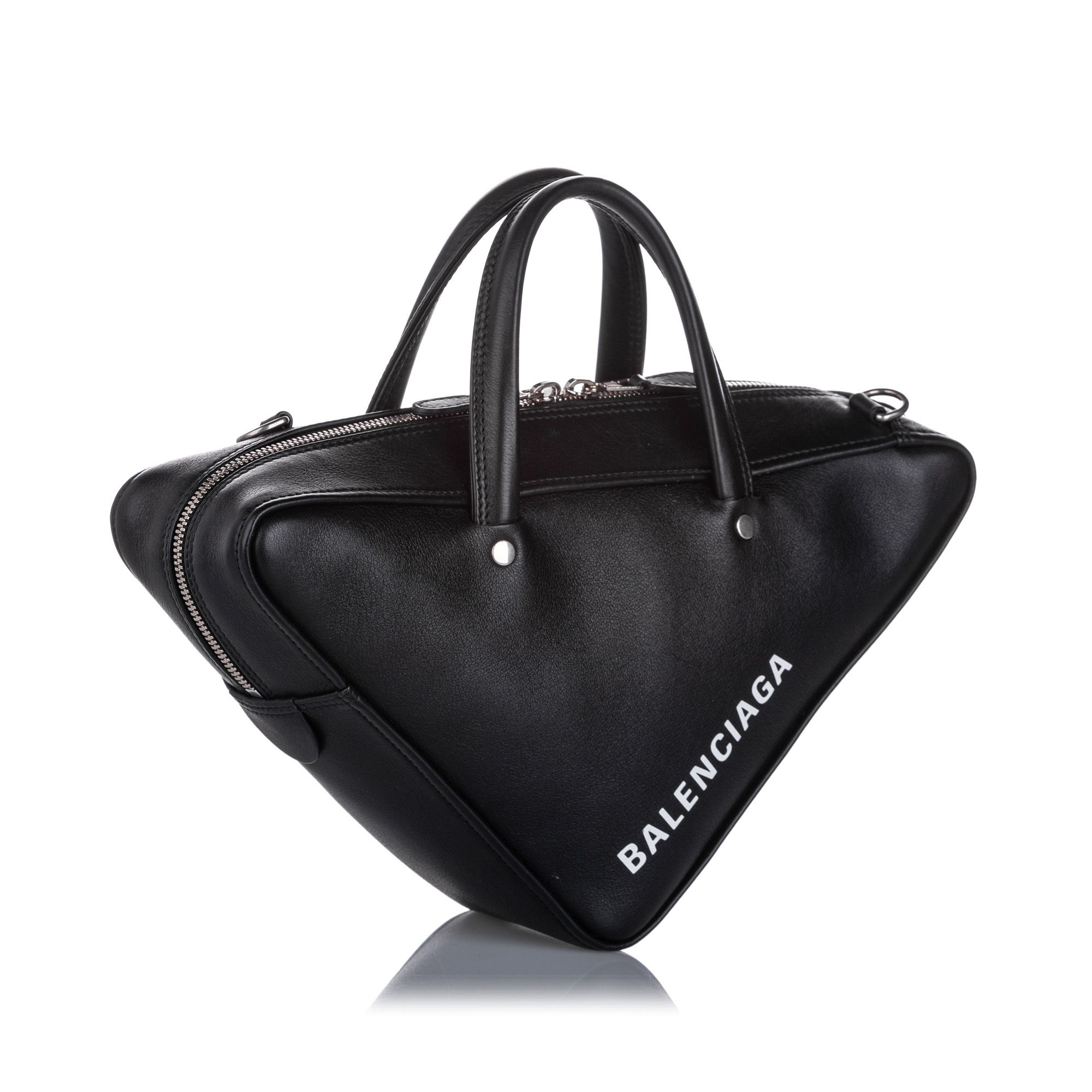 Vintage Balenciaga Triangle Duffle S Bag Black