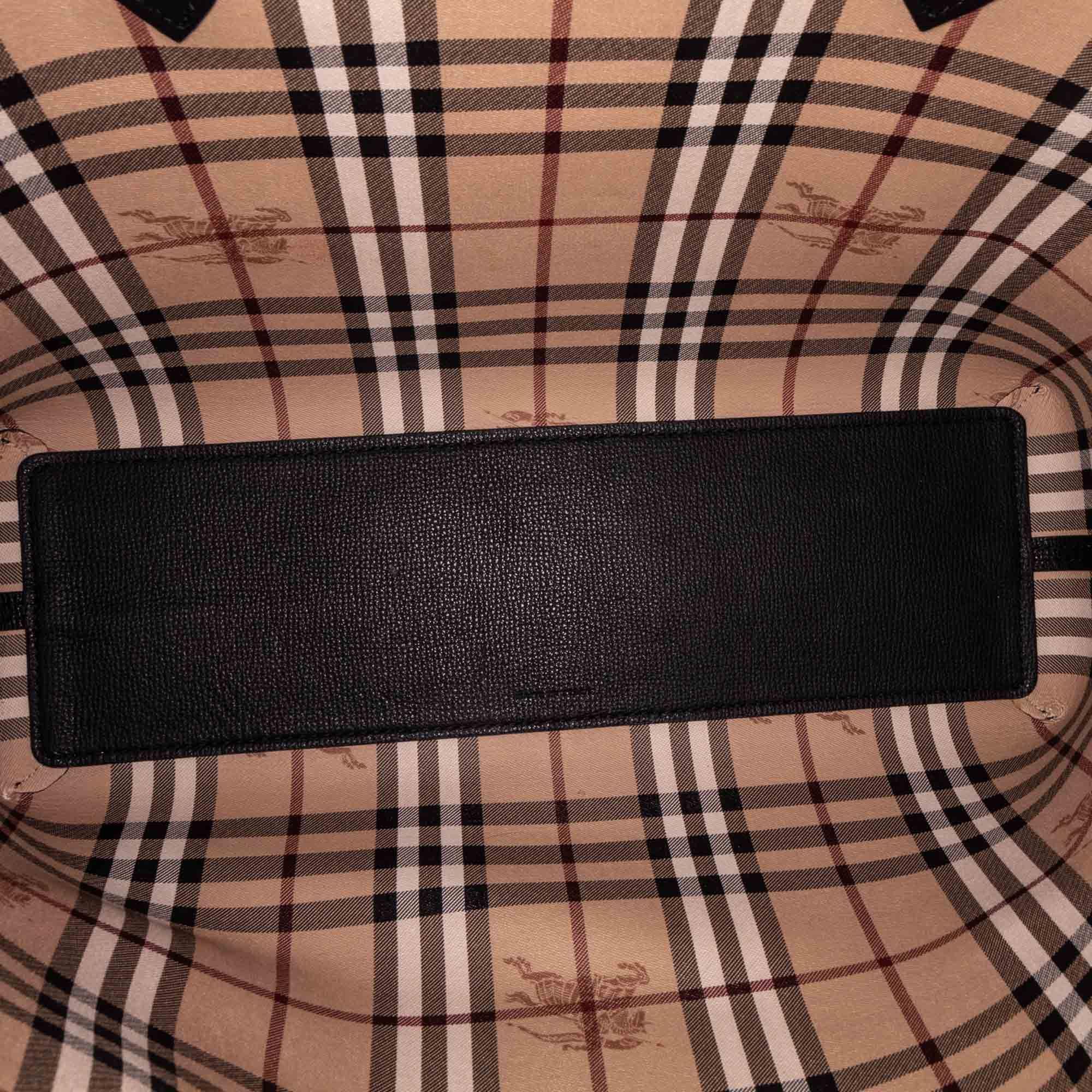 Vintage Burberry Medium Haymarket Reversible Tote Black