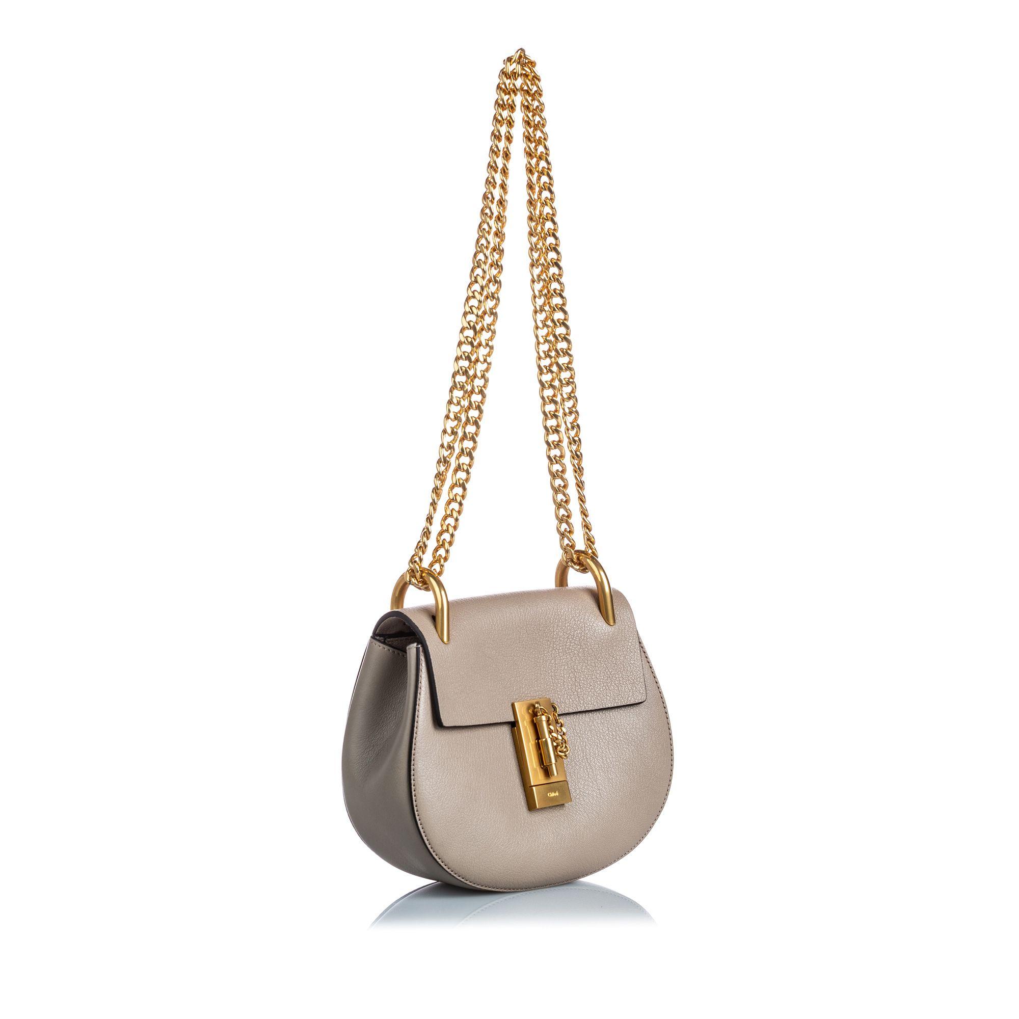 Vintage Chloe Mini Drew Crossbody Bag Gray