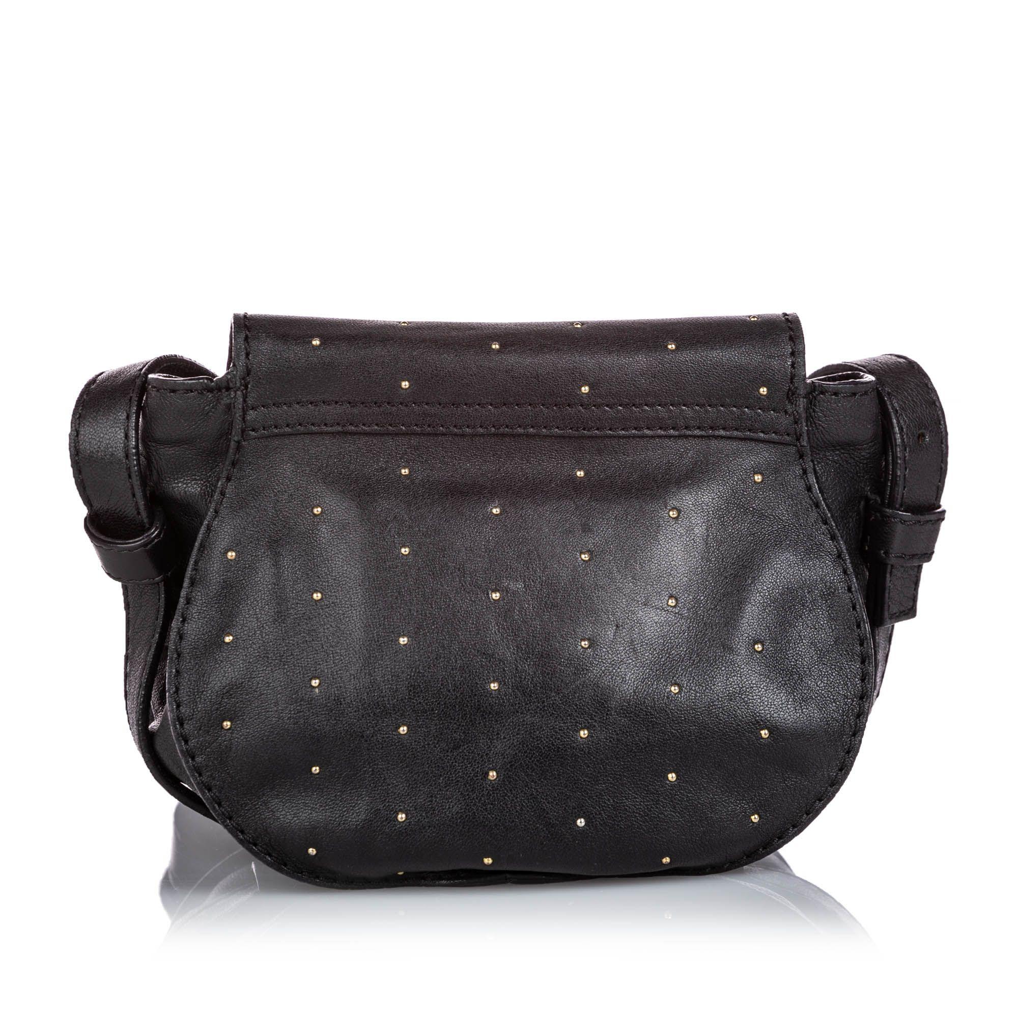 Vintage Chloe Leather Marcie Crossbody Bag Black