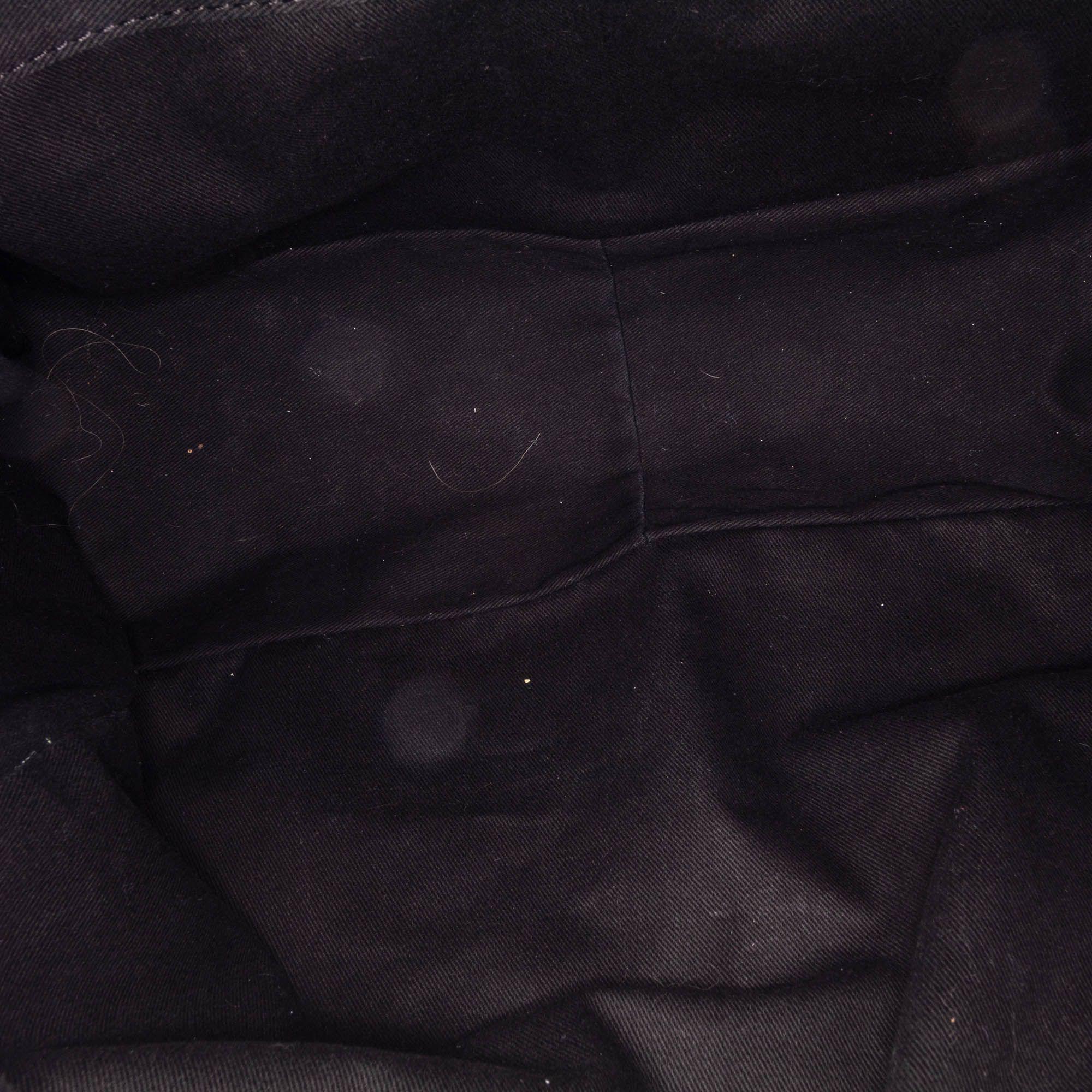 Vintage Chloe Canvas Heloise Shoulder Bag Gray