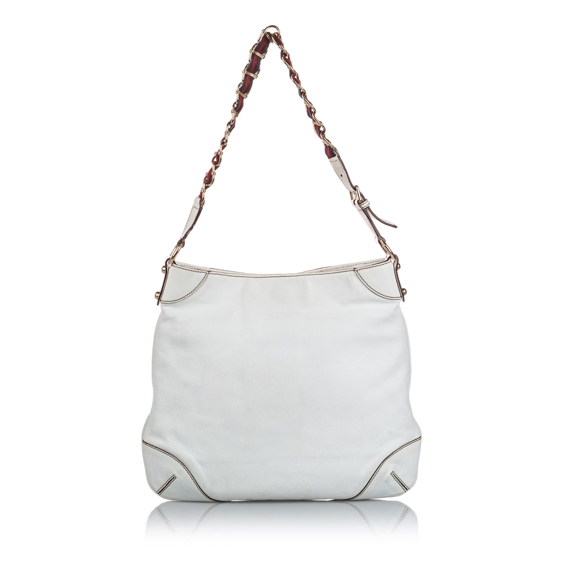 Vintage Gucci Capri Ranch Kid Leather Hobo White