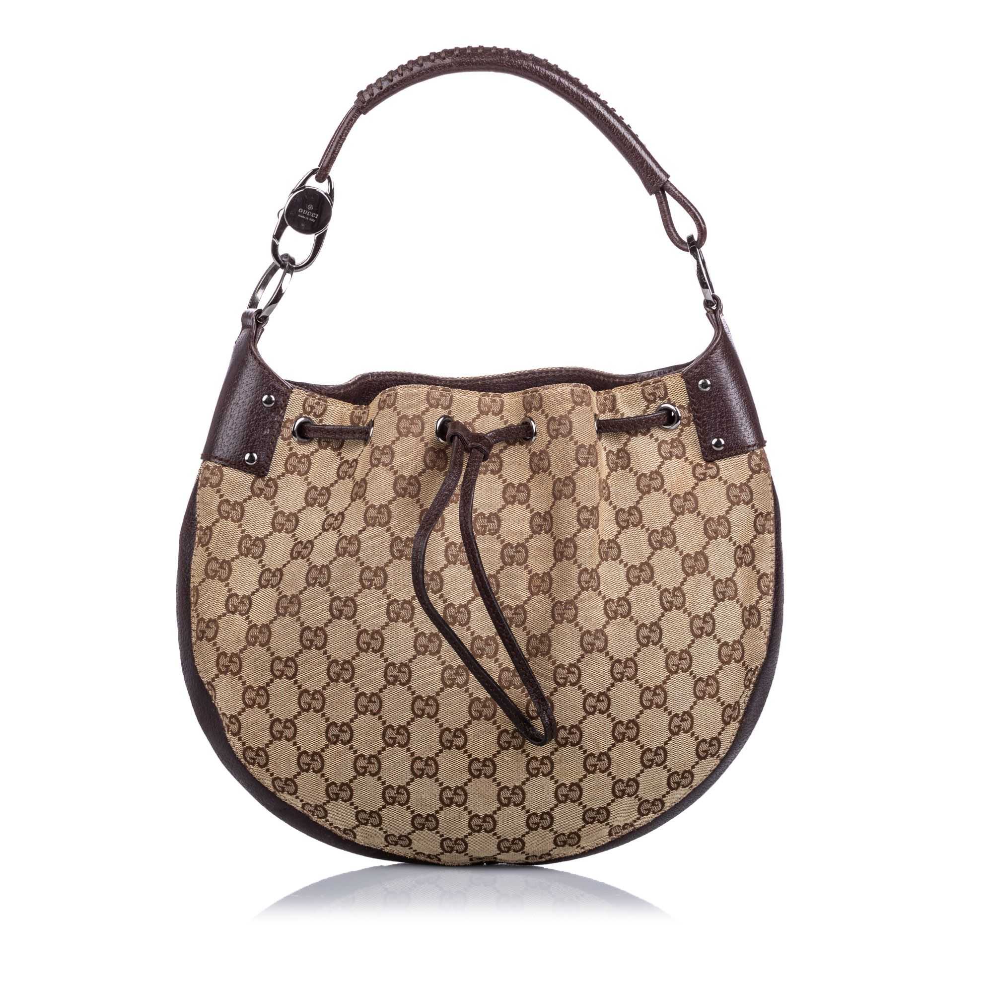Vintage Gucci GG Canvas Hobo Bag Brown