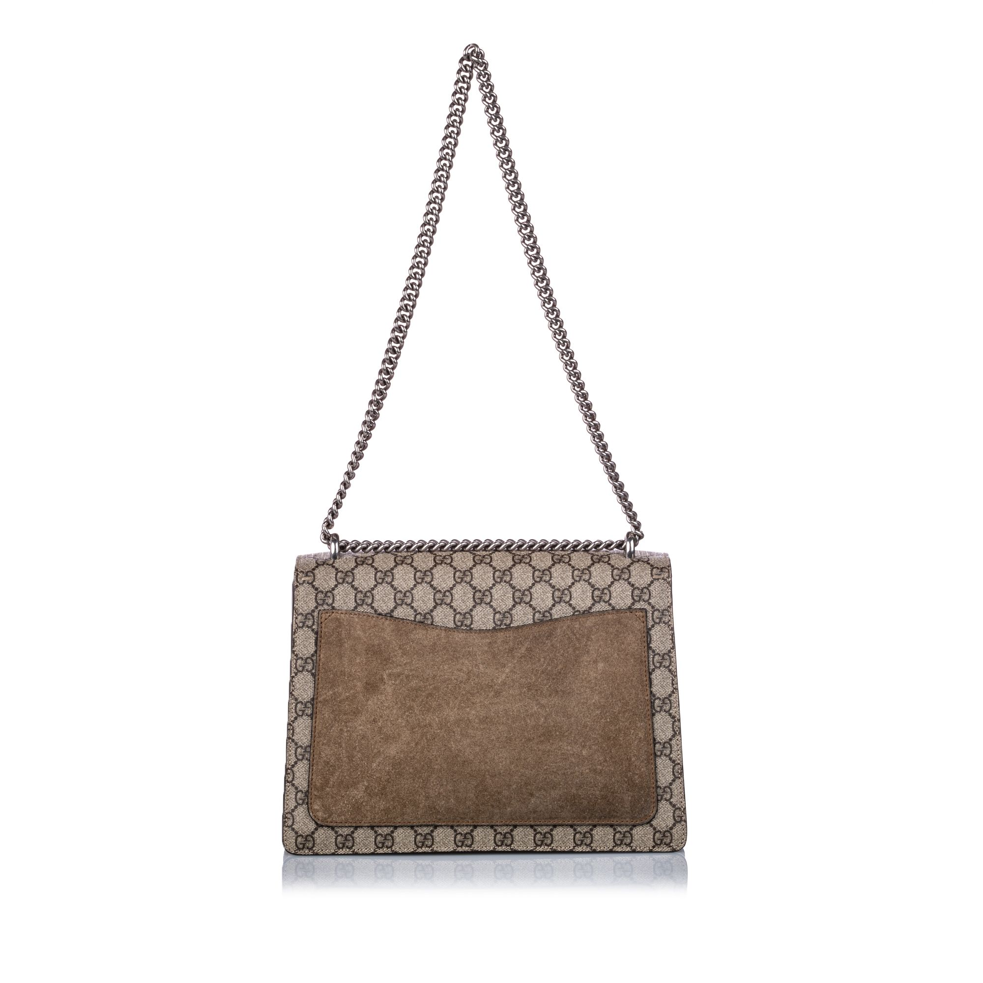 Vintage Gucci GG Supreme Dionysus Shoulder Bag Brown