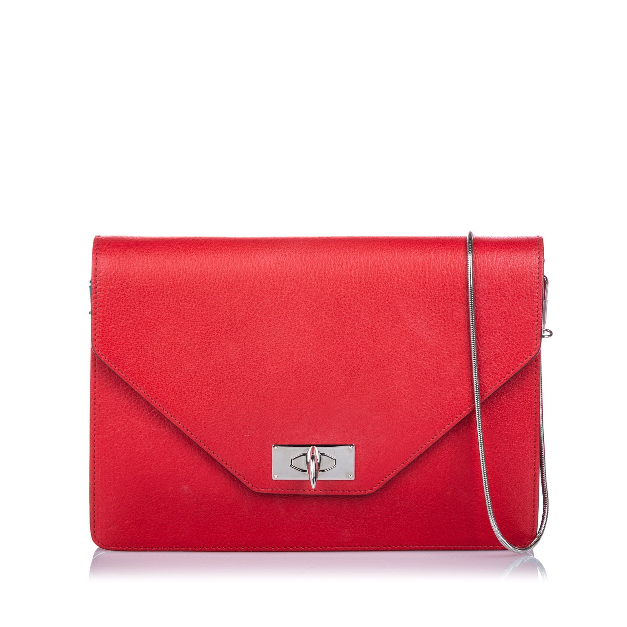 Vintage Givenchy Shark Tooth Crossbody Bag Red