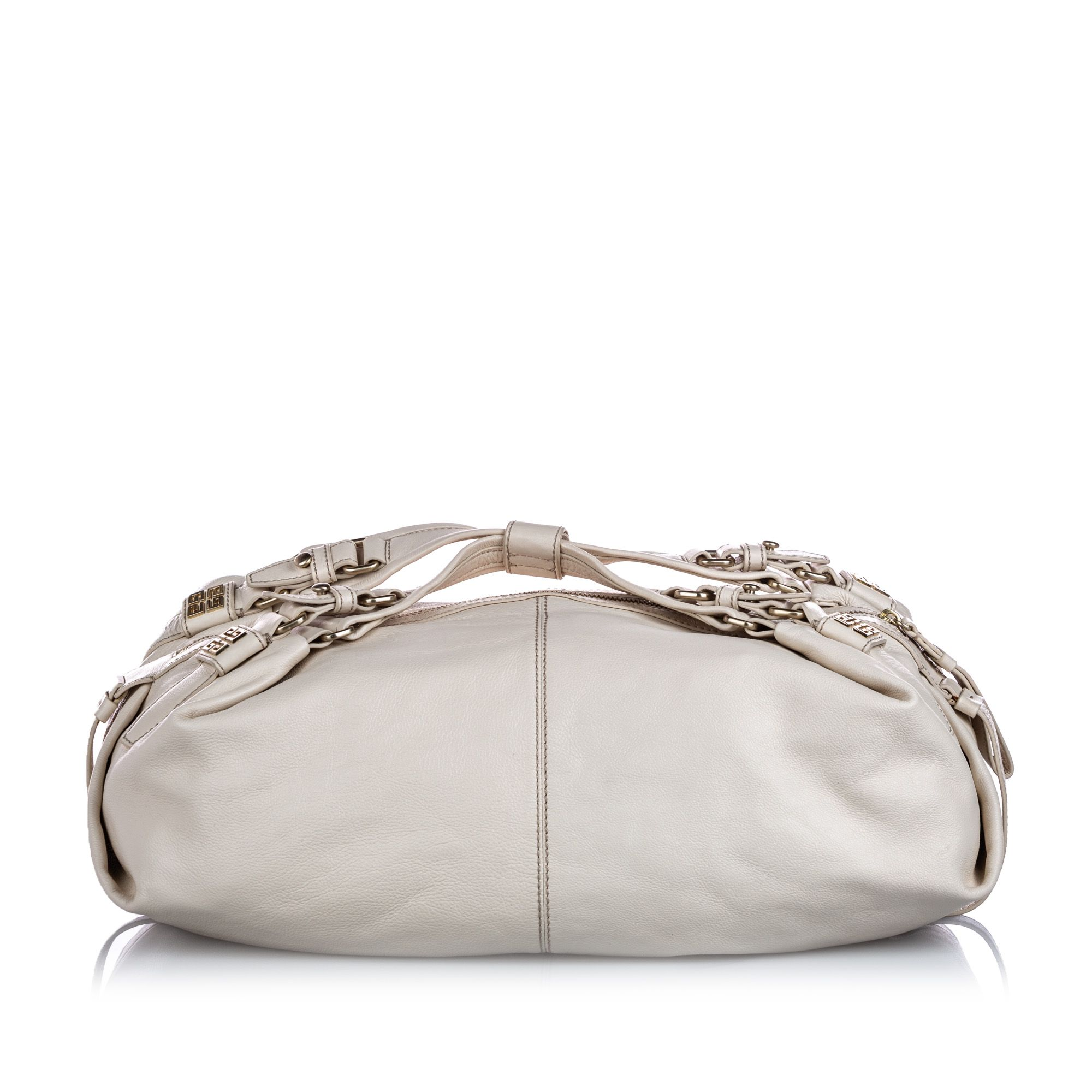 Vintage Givenchy Leather Duffle Hobo White