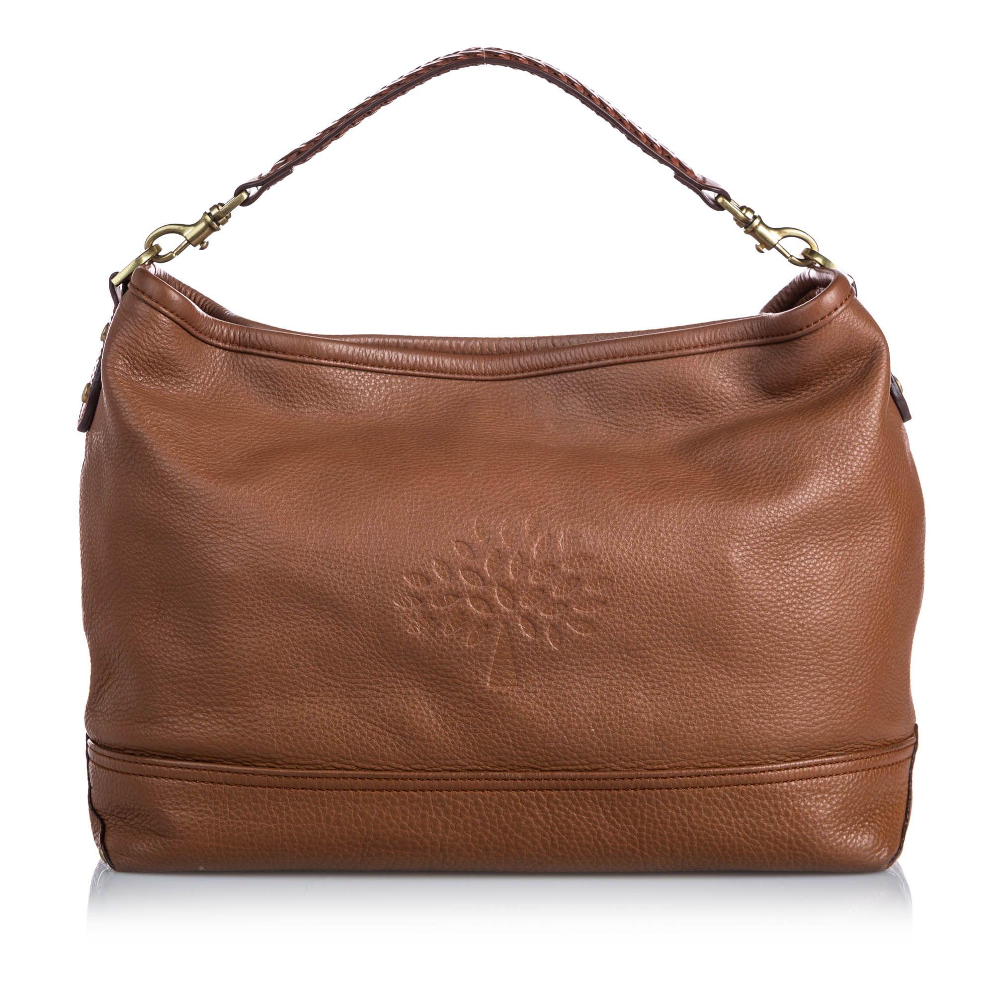 Vintage Mulberry Leather Effie Satchel Brown