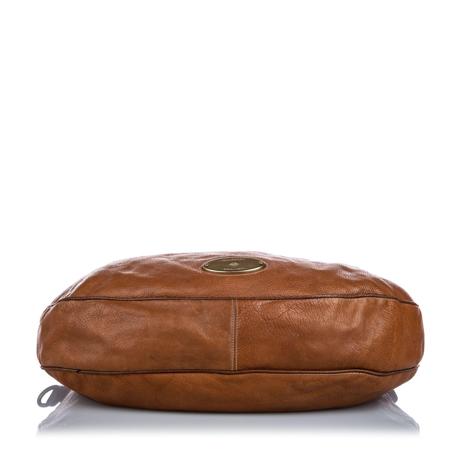 Vintage Mulberry Leather Mitzy Shoulder Bag Brown