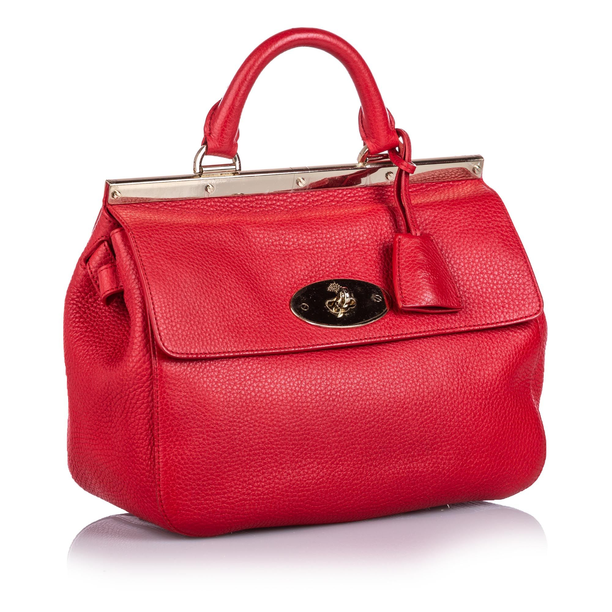 Vintage Mulberry Small Leather Suffolk Satchel Red
