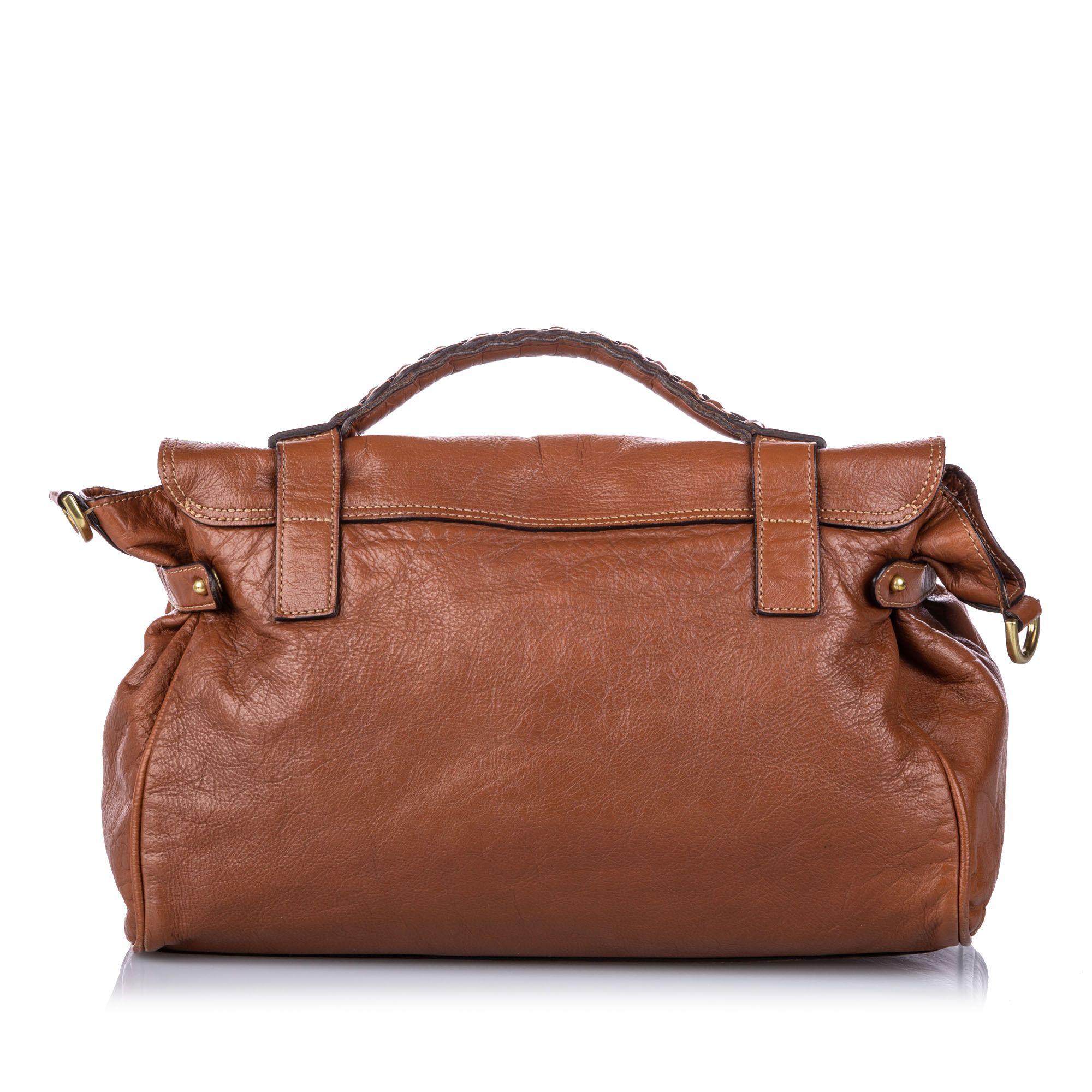 Vintage Mulberry Leather Alexa Satchel Brown