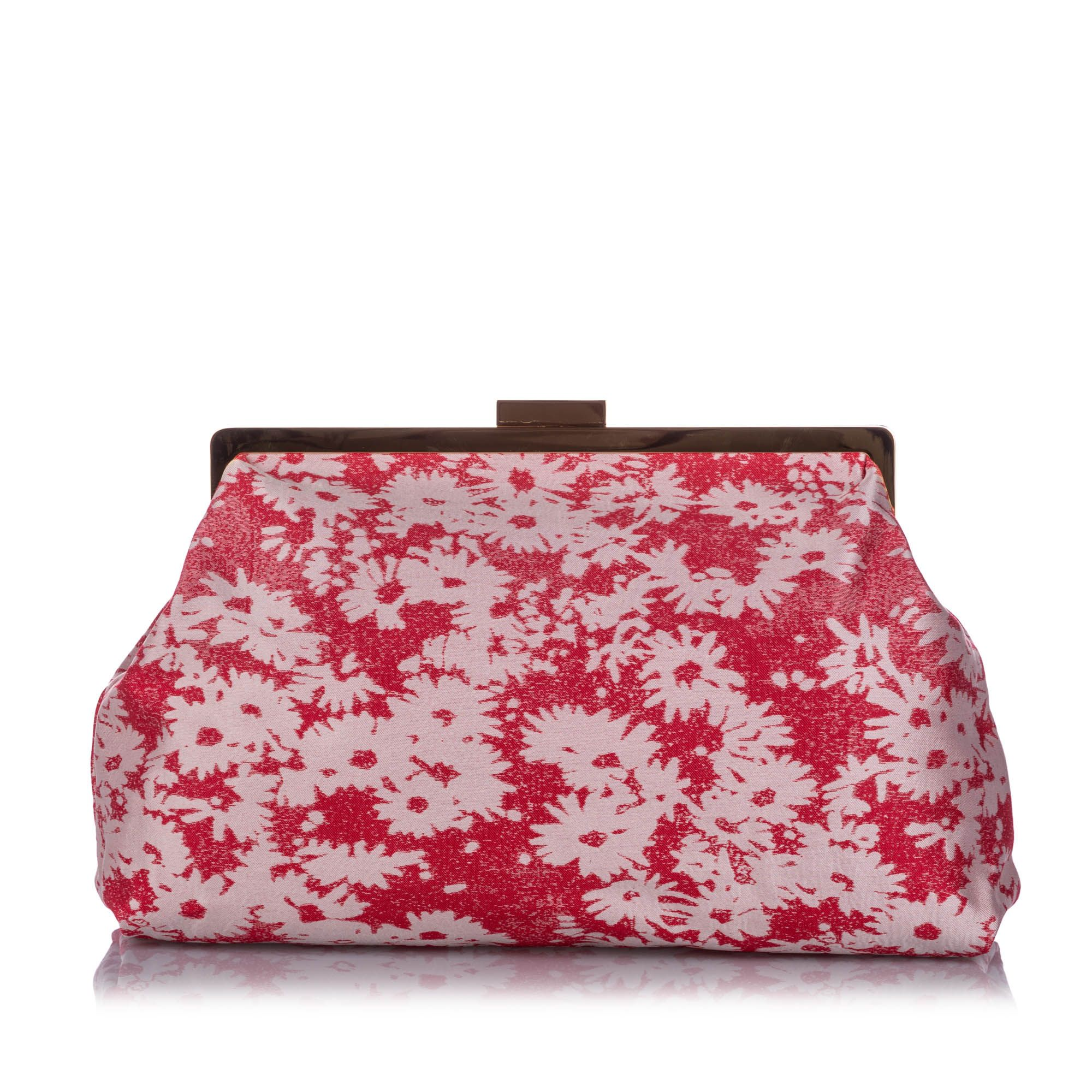 Vintage Stella McCartney Daisy Canvas Clutch Bag Pink