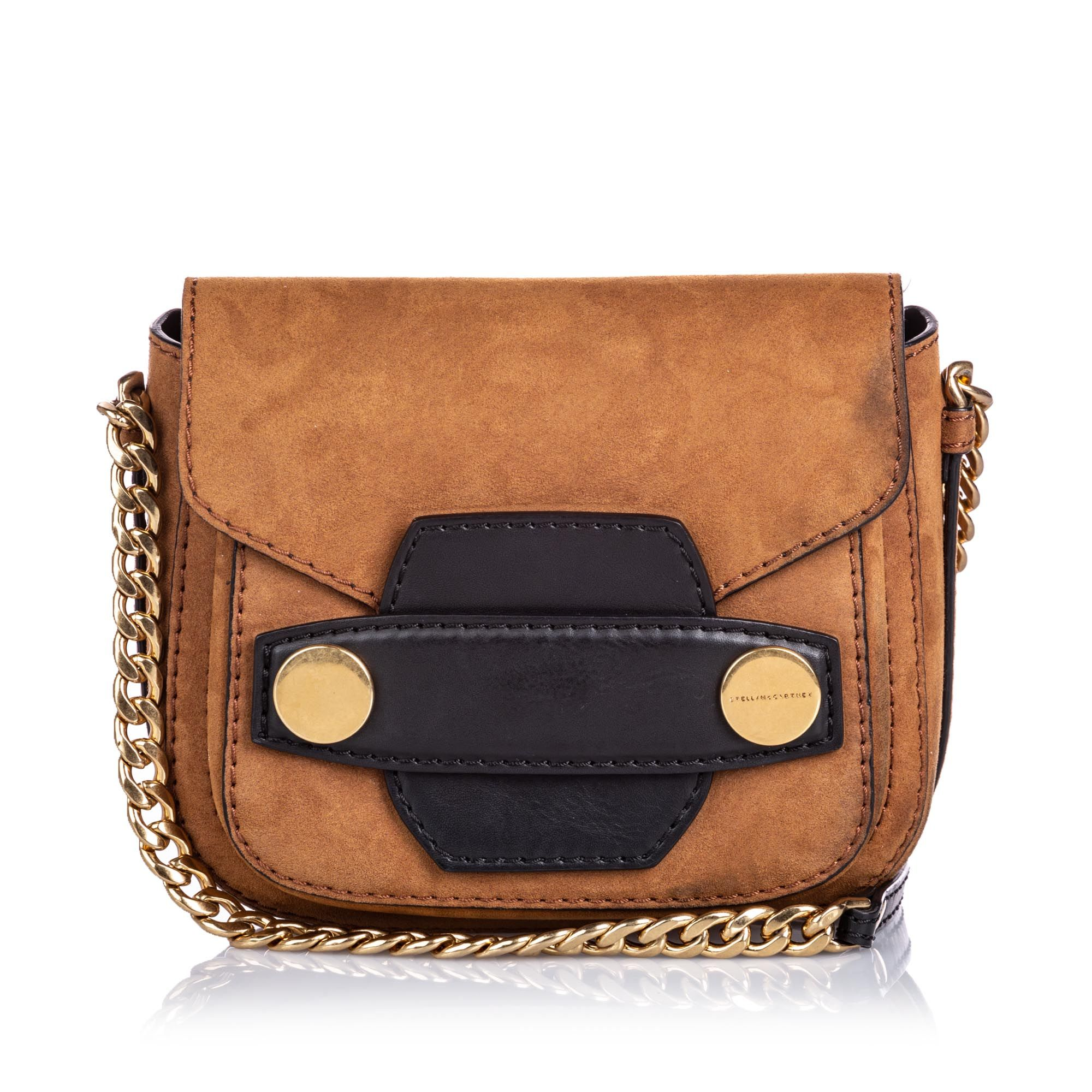 Vintage Stella McCartney Small Popper Crossbody Bag Brown