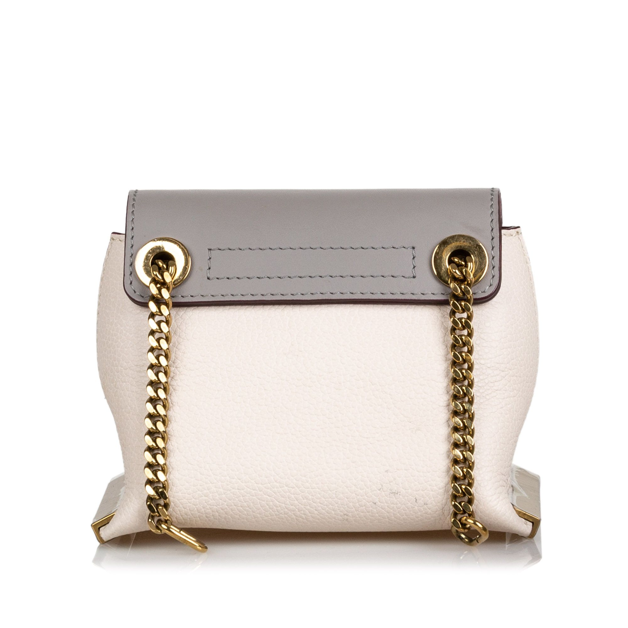 Vintage Chloe Leather Mini Clare Crossbody White