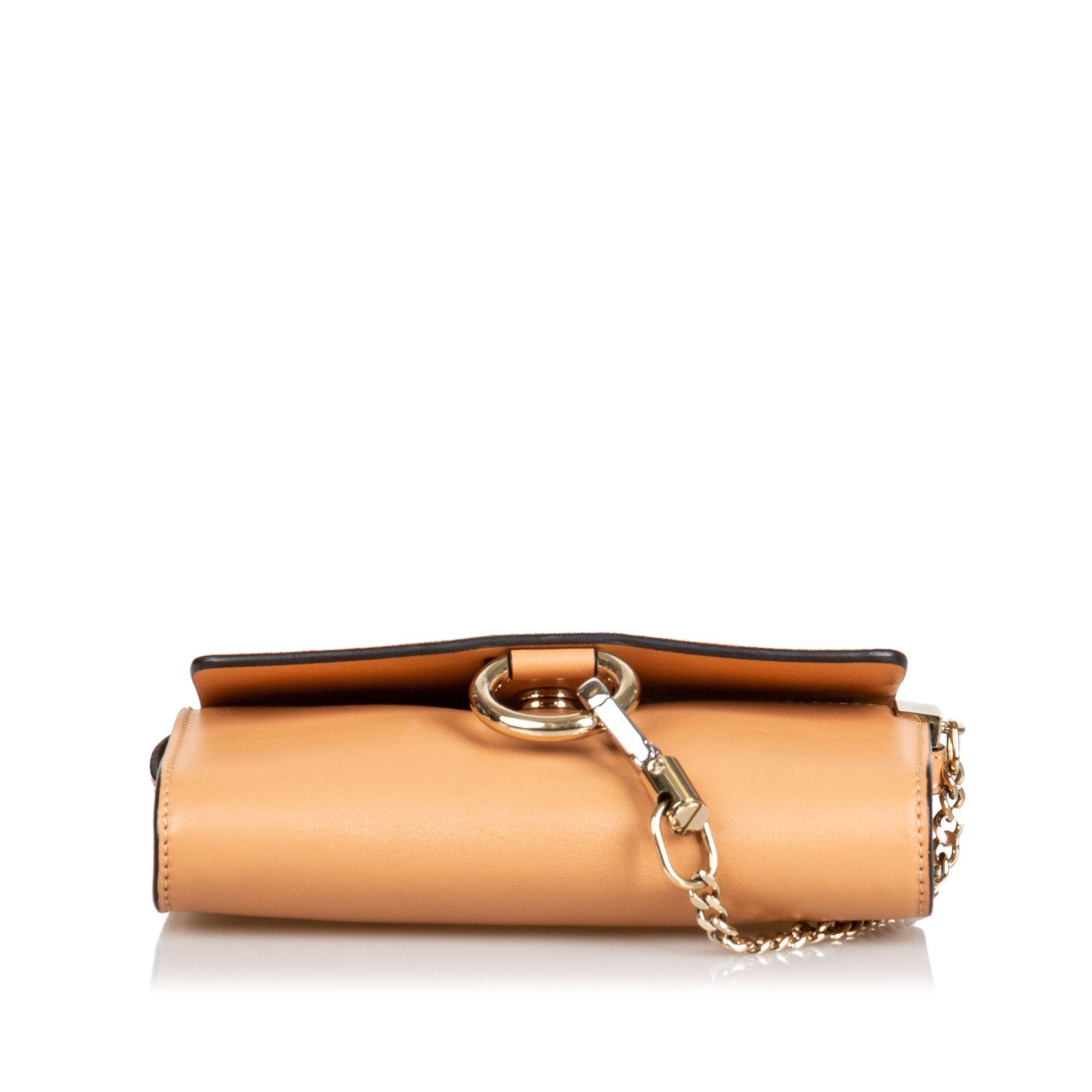 Vintage Chloe Suede Faye Crossbody Bag Brown