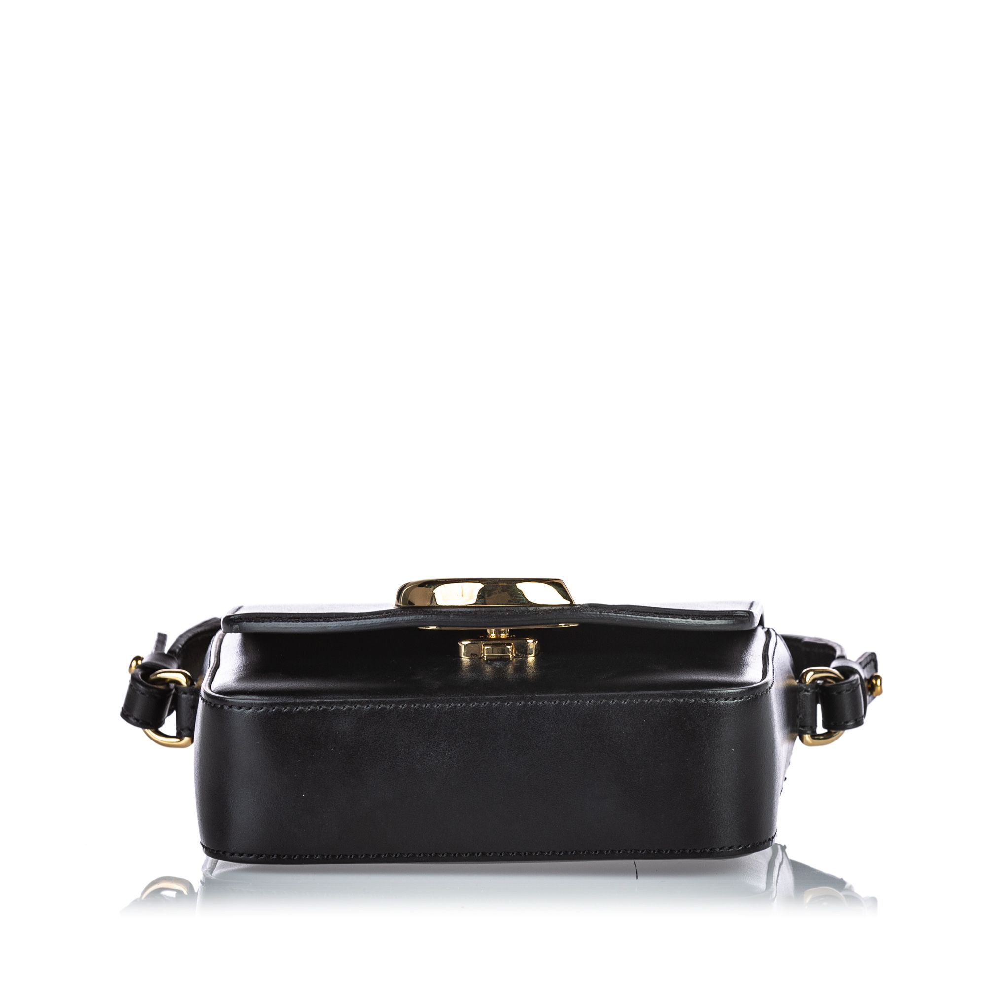 Vintage Chloe Leather Mini C Crossbody Black