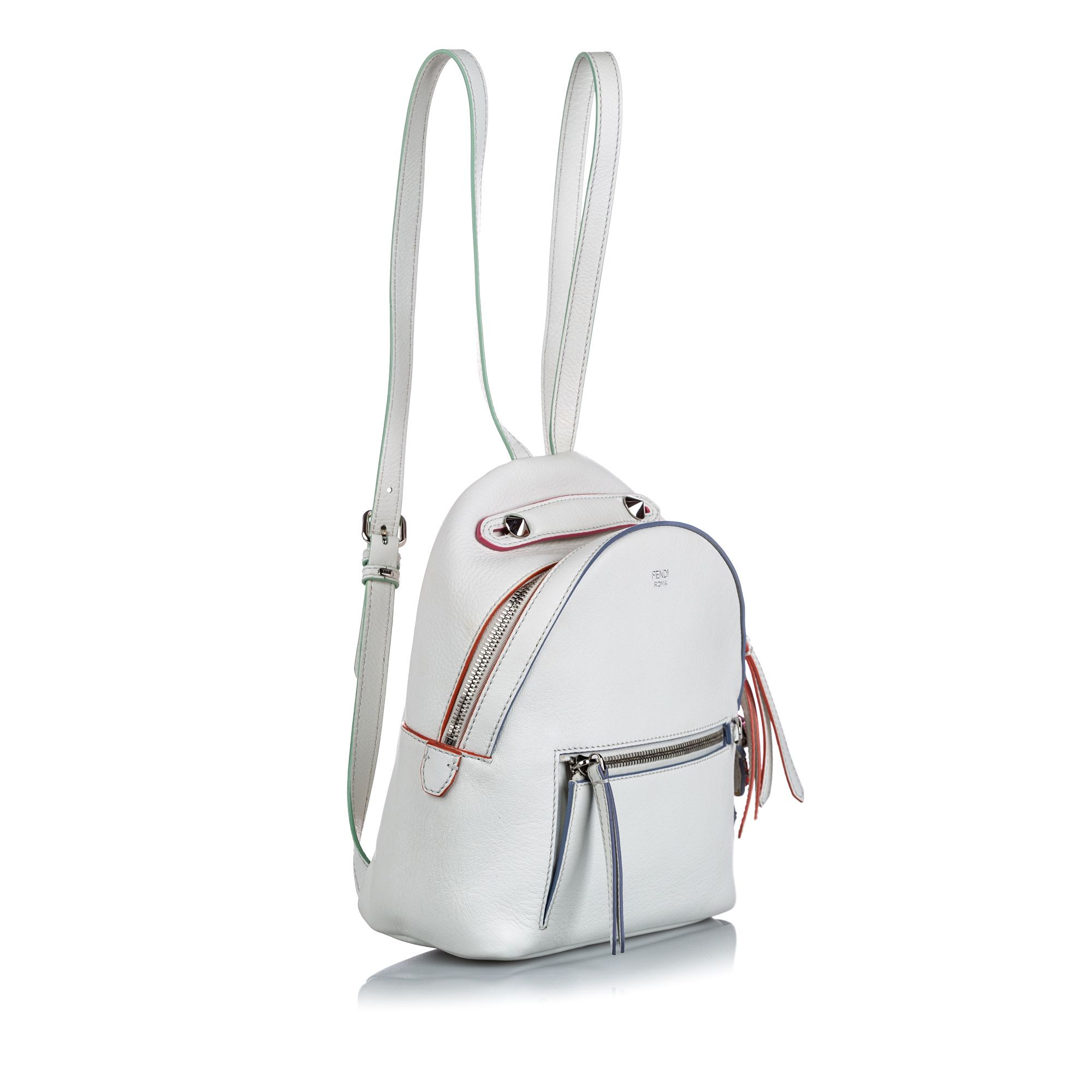 Vintage Fendi Mini By The Way Backpack White