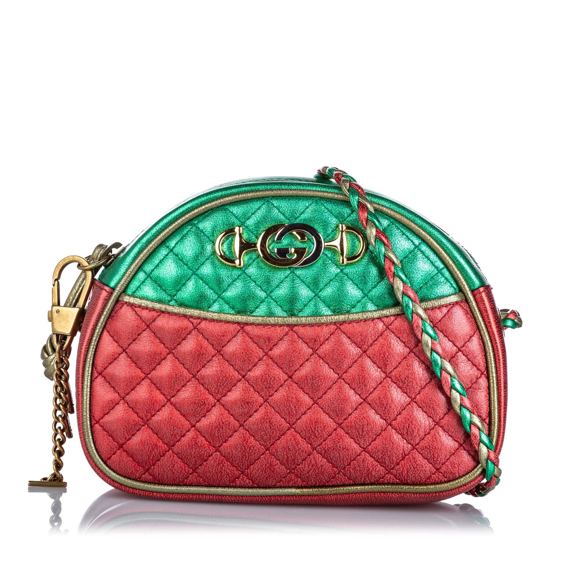 Vintage Gucci Mini Trapuntata Bag Red