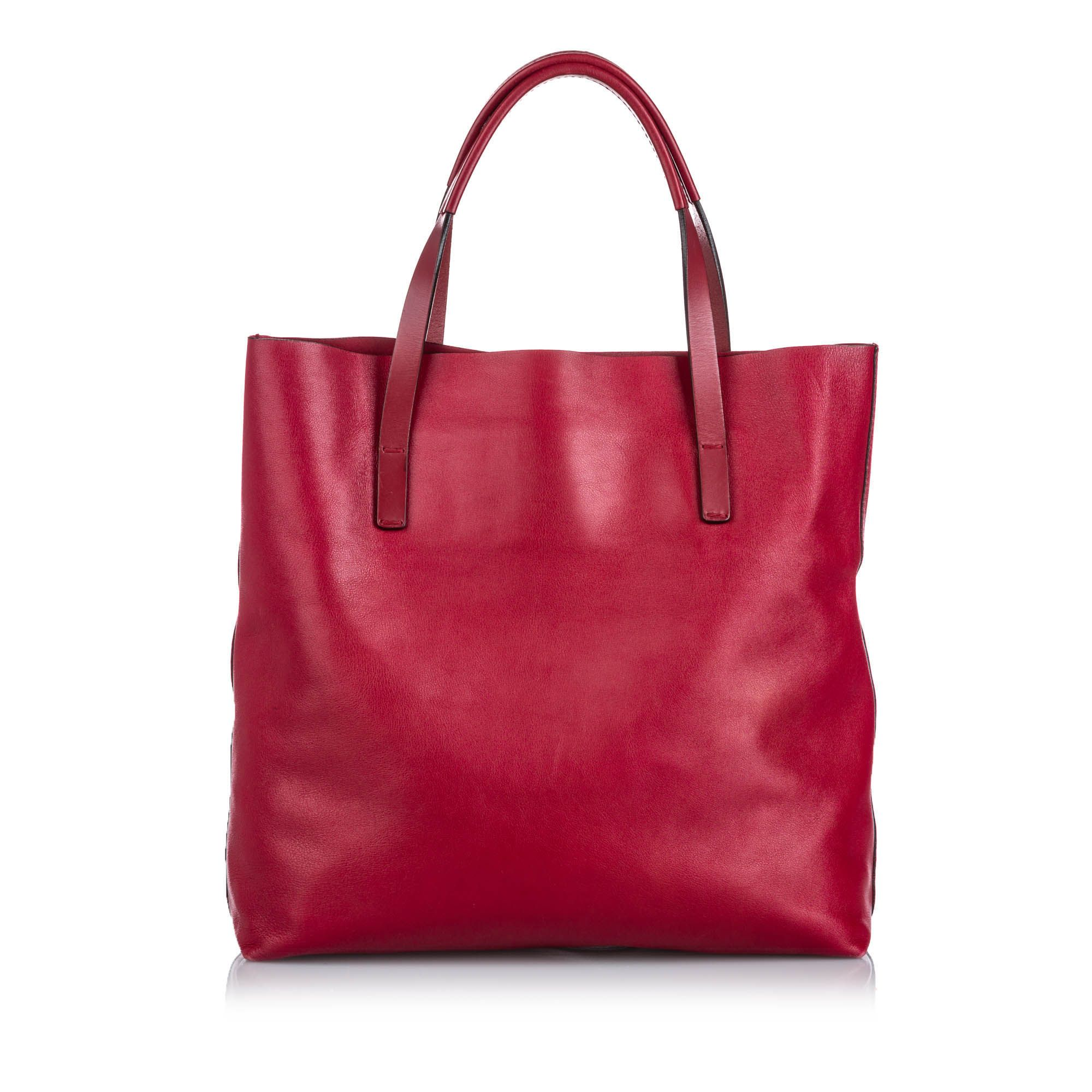 Vintage Gucci Small Leather Park Avenue Horsebit Tote Red