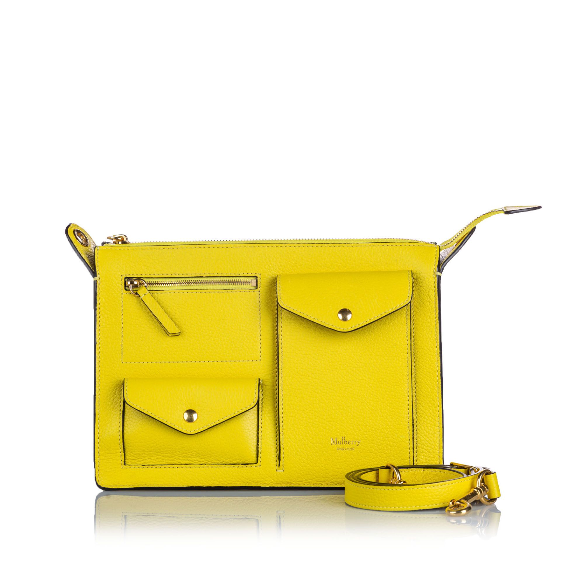 Vintage Mulberry Leather Cherwell Satchel Yellow