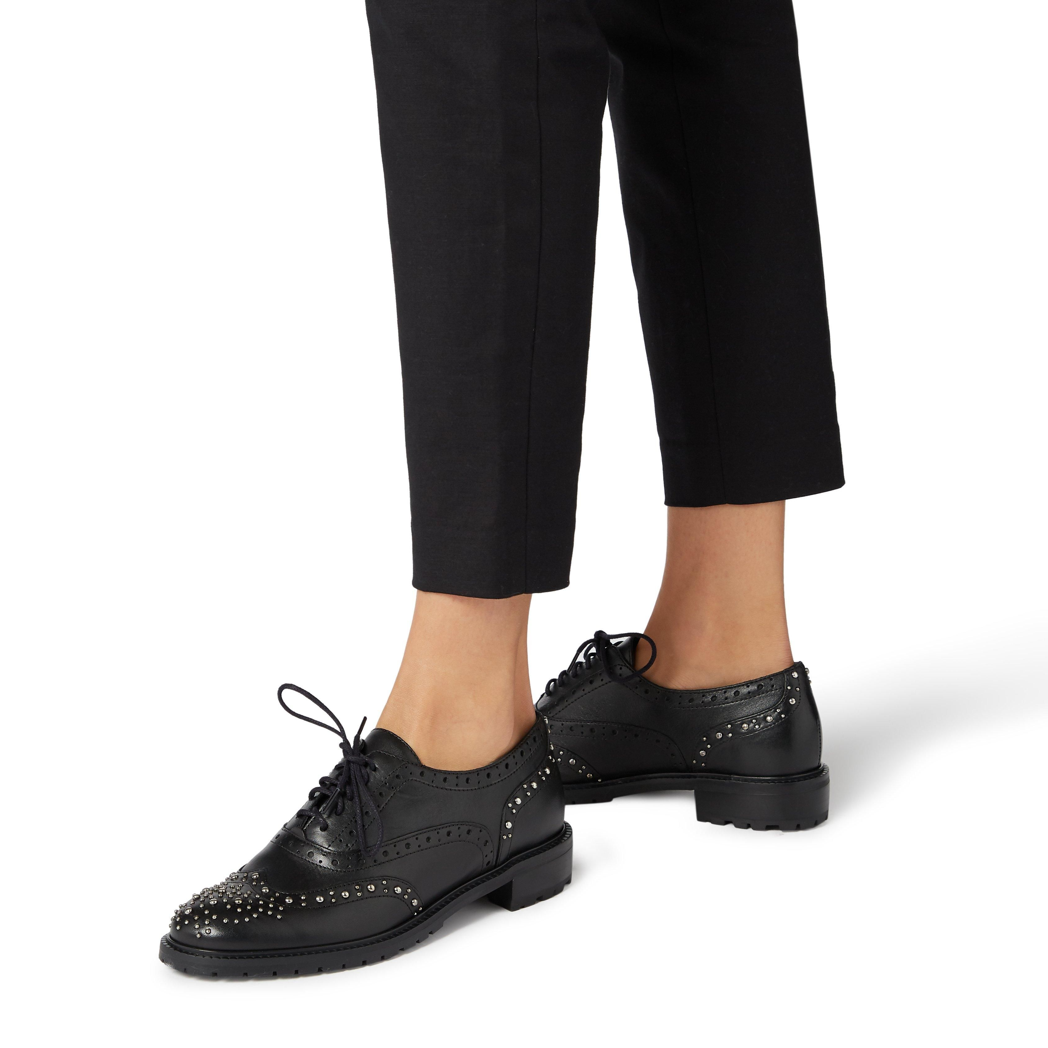 Dune Ladies FRANCIS Studded Lace Up Brogue