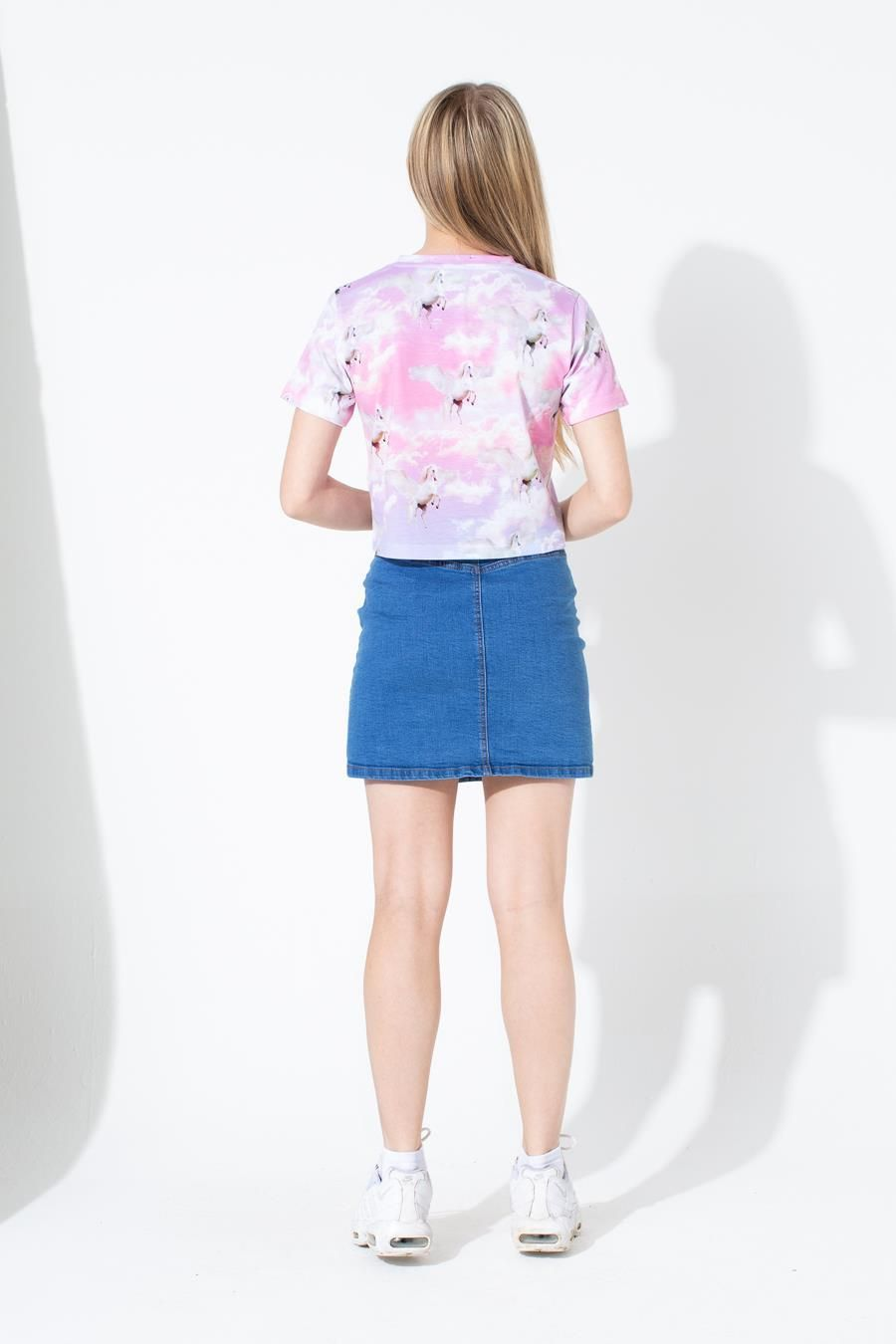Hype Unicorn Skies Kids Crop T-Shirt