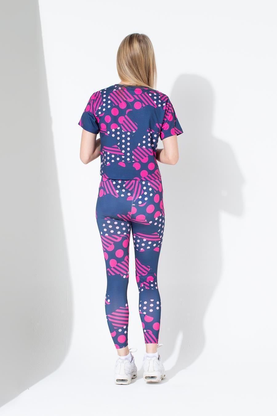 Hype Geo Camo Spot Kids Crop T-Shirt