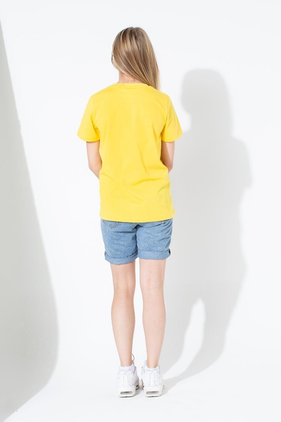 Hype Yellow Large Script Kids T-Shirt 7-8Y