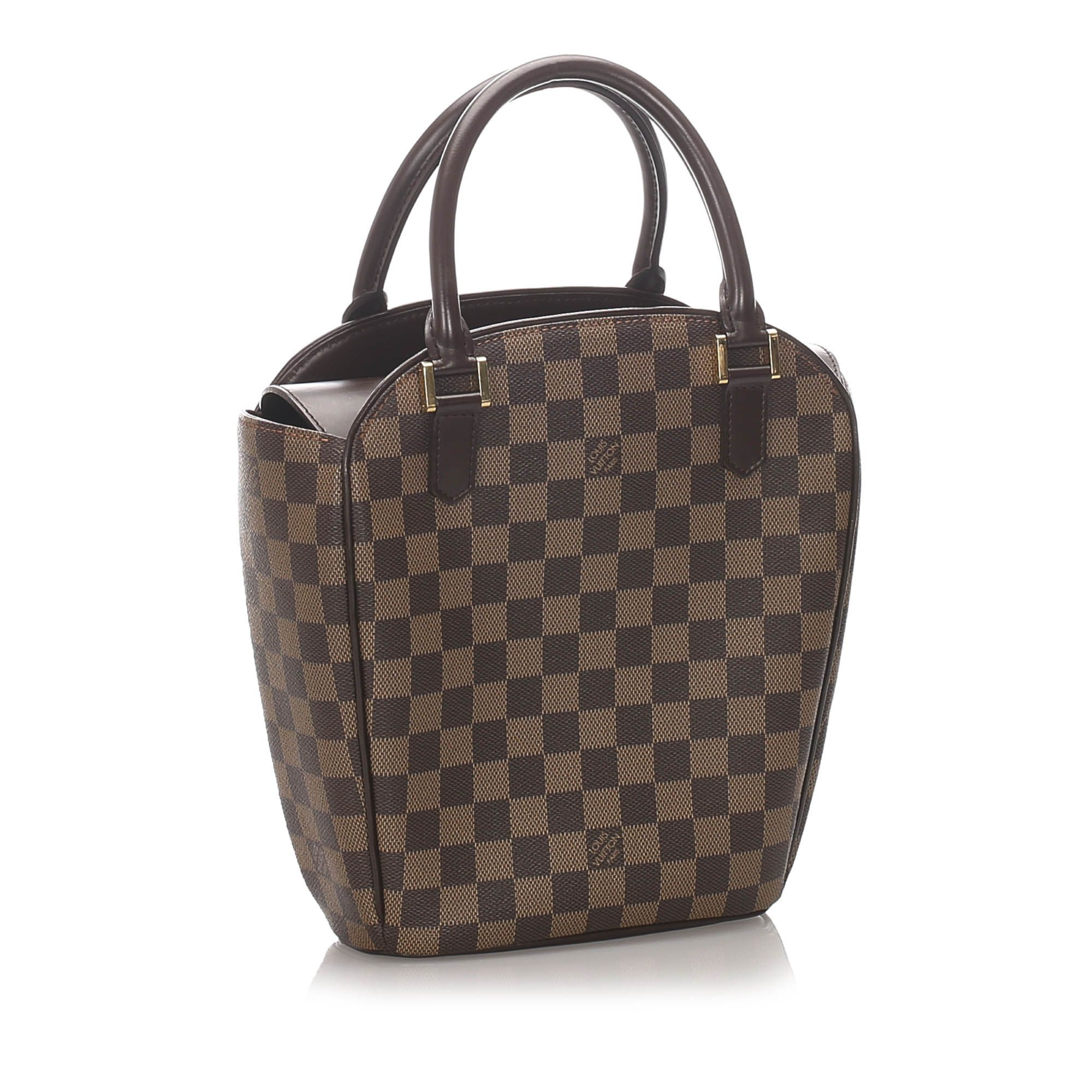 Vintage Louis Vuitton Damier Ebene Sarria Seau Brown