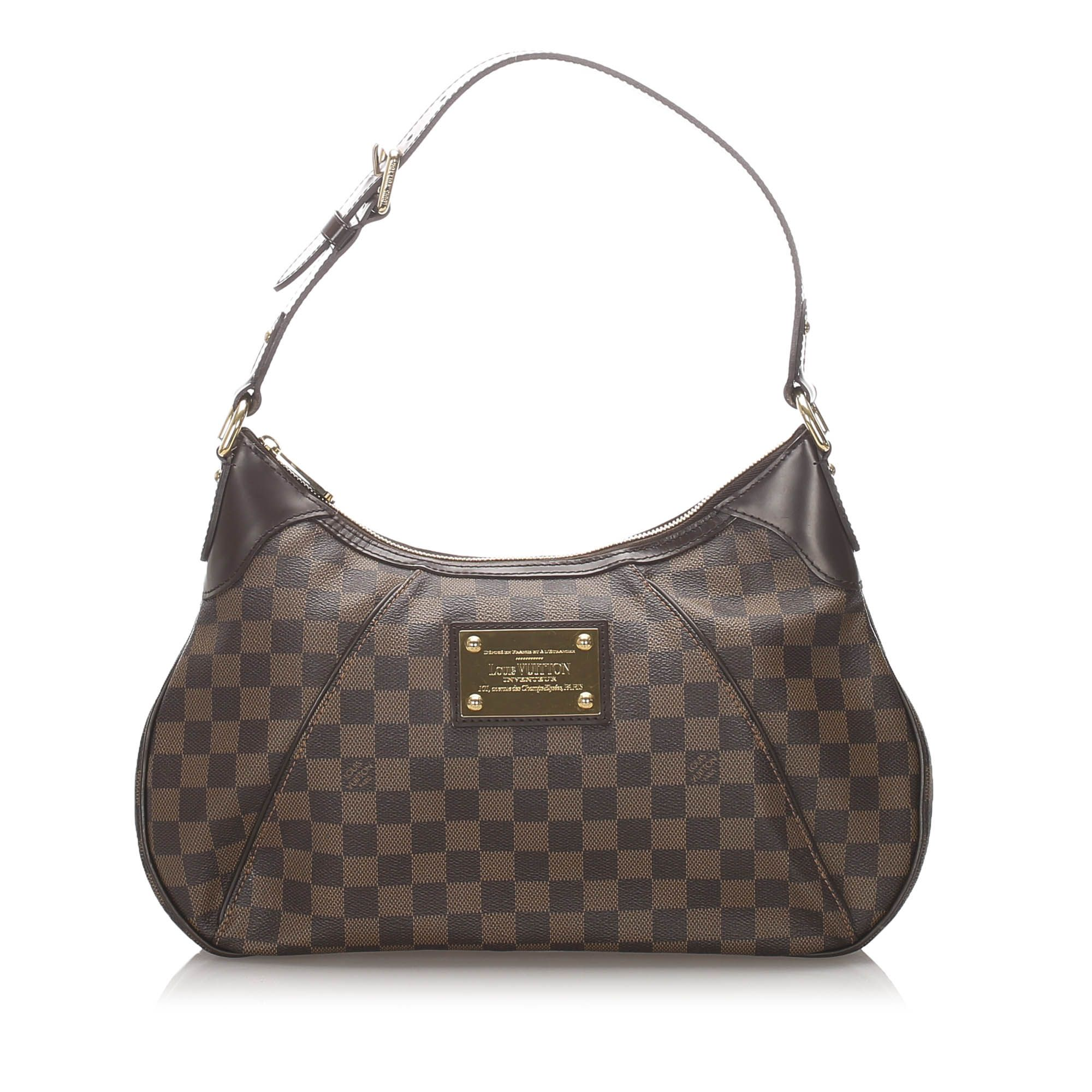 Vintage Louis Vuitton Damier Ebene Thames GM Brown