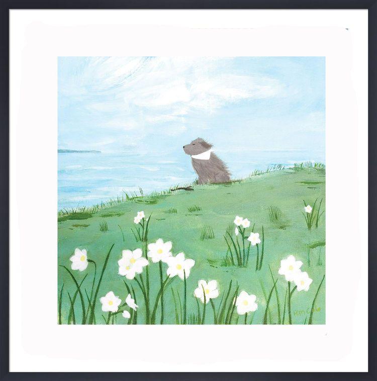 Enjoying the Breeze Art Print by Hannah Cole