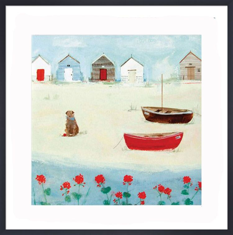 The Red Boat Art Print by Hannah Cole